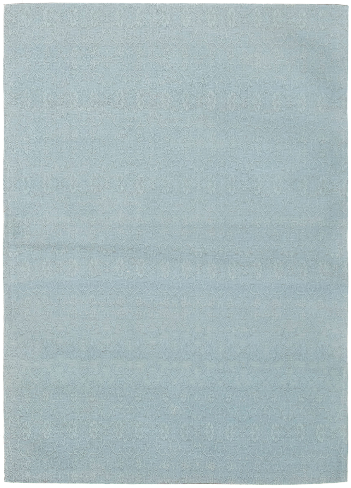 "Handmade Collage Light Blue  Chenille Rug 4'9"" x 6'9"" Size: 4'9"" x 6'9"""