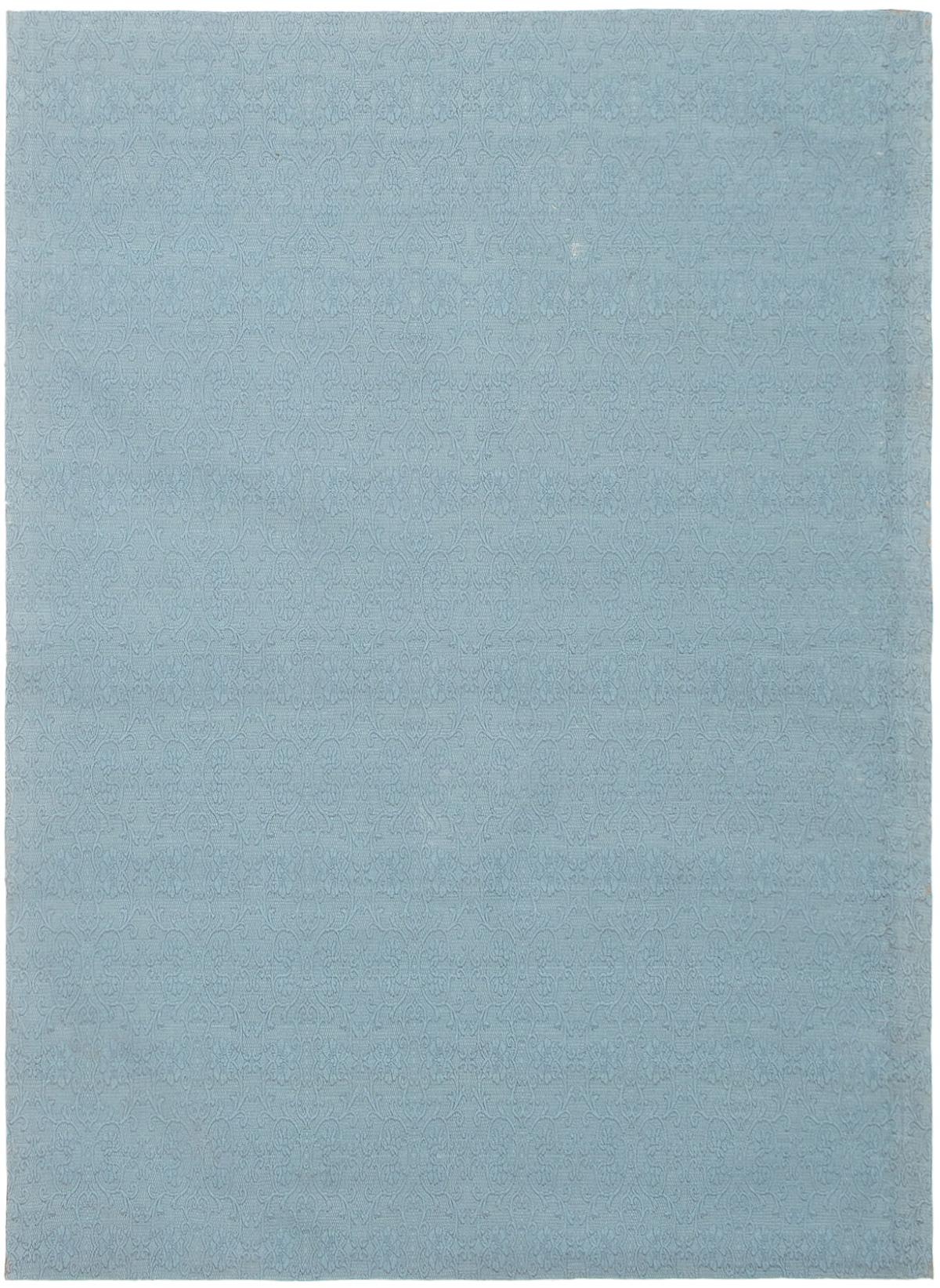 "Handmade Collage Light Blue  Chenille Rug 5'5"" x 7'7"" Size: 5'5"" x 7'7"""