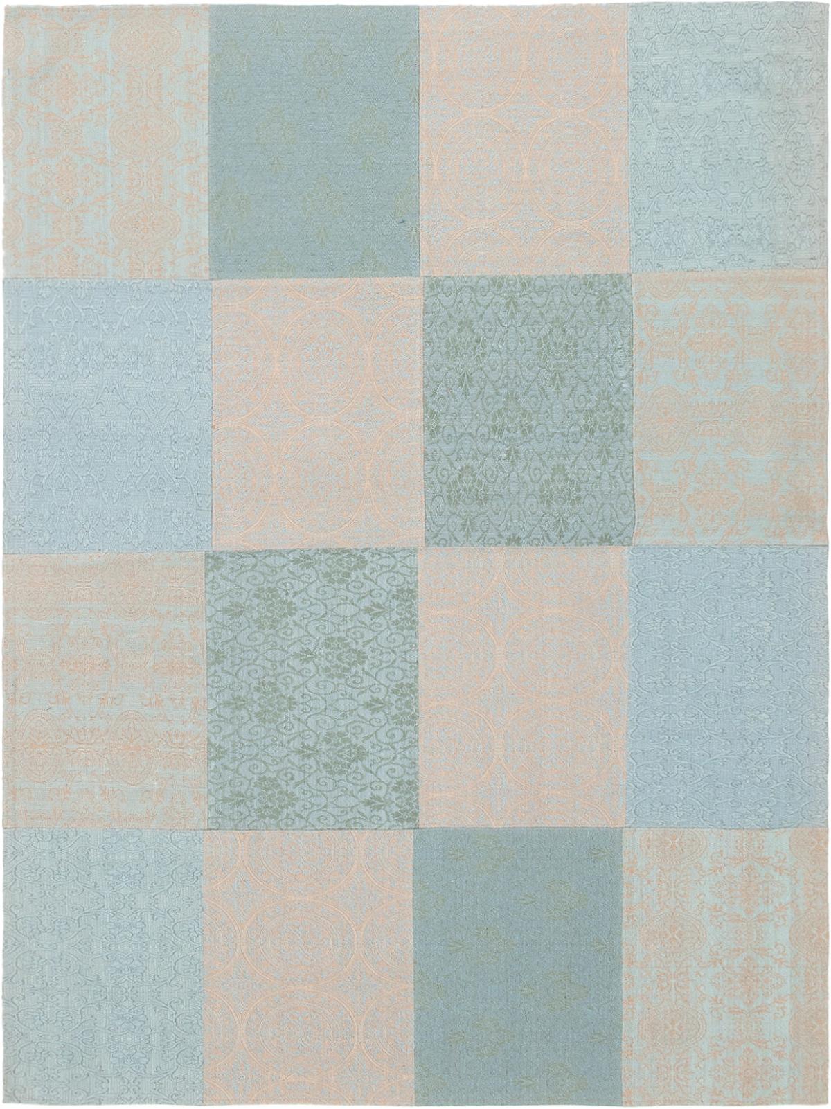 "Handmade Collage Grey, Light Blue  Chenille Rug 5'8"" x 7'7"" Size: 5'8"" x 7'7"""