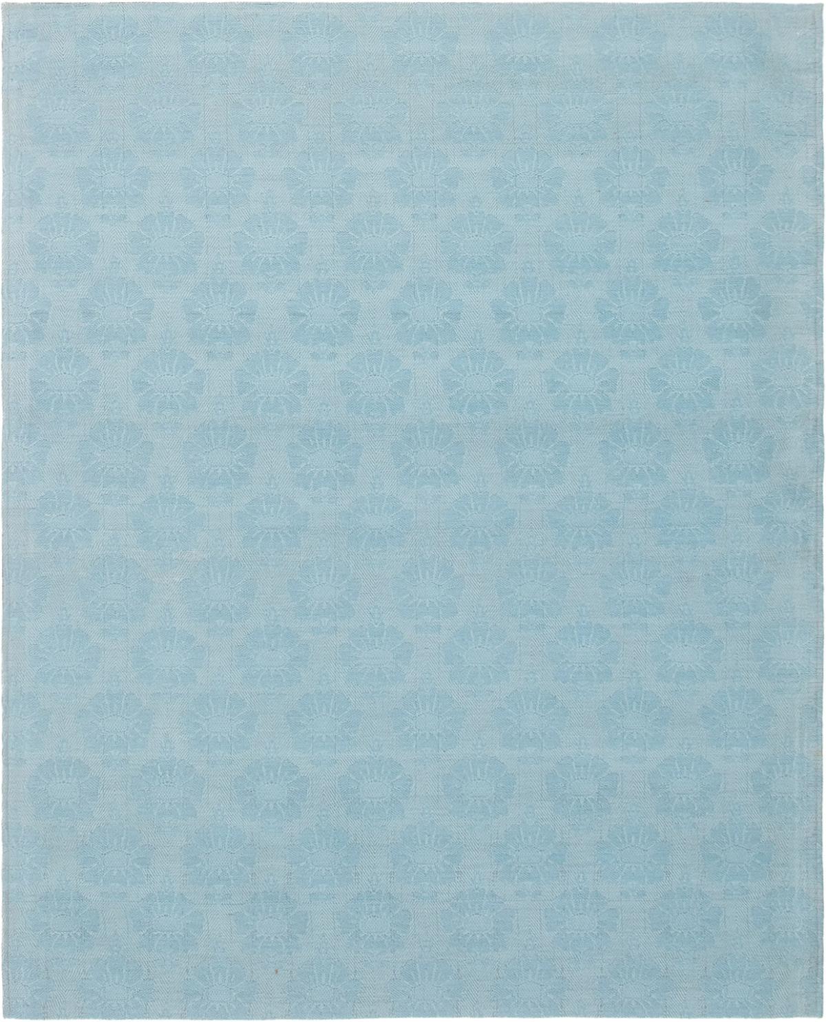 "Handmade Collage Light Blue  Chenille Rug 6'3"" x 4'11"" Size: 4'11"" x 6'3"""