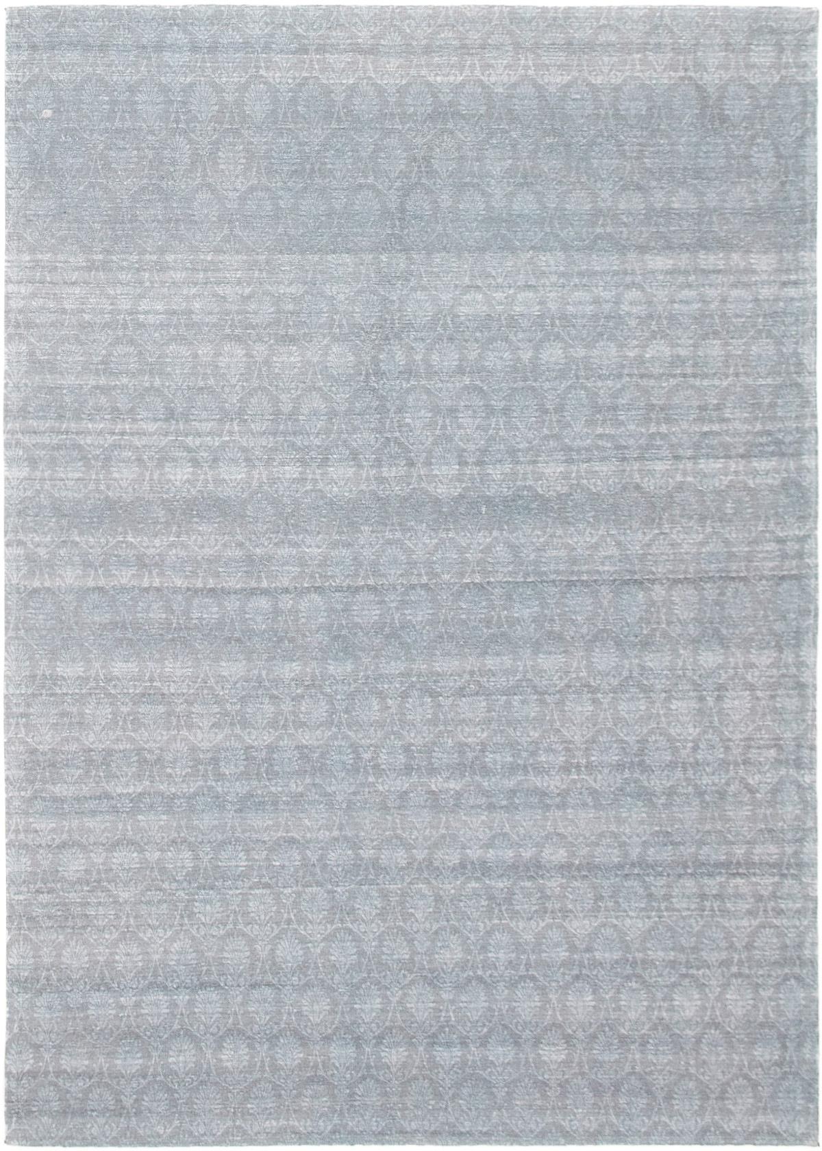 "Handmade Collage Light Blue , Slate Blue Chenille Rug 4'9"" x 6'8"" Size: 4'9"" x 6'8"""