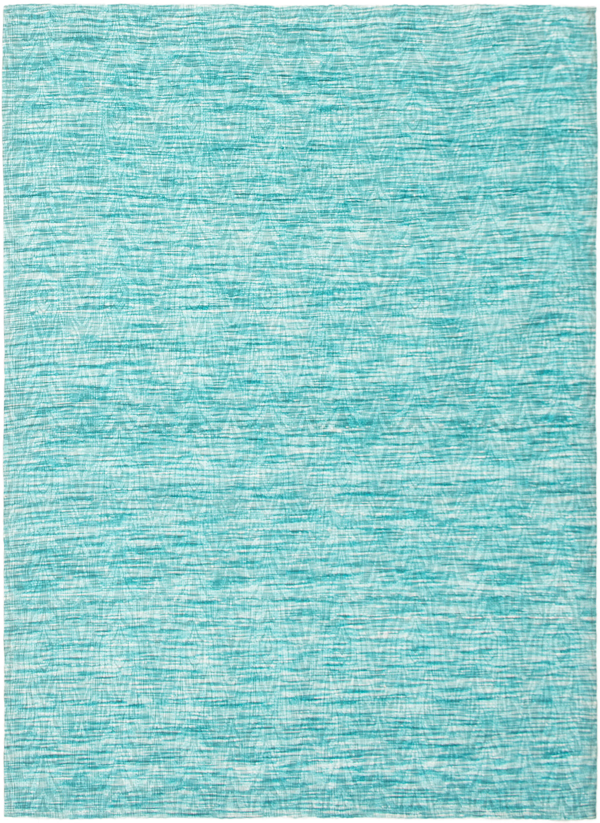 """Handmade Collage Sky Blue Chenille Rug 5'1"""" x 7'2"""" Size: 5'1"""" x 7'2"""""""
