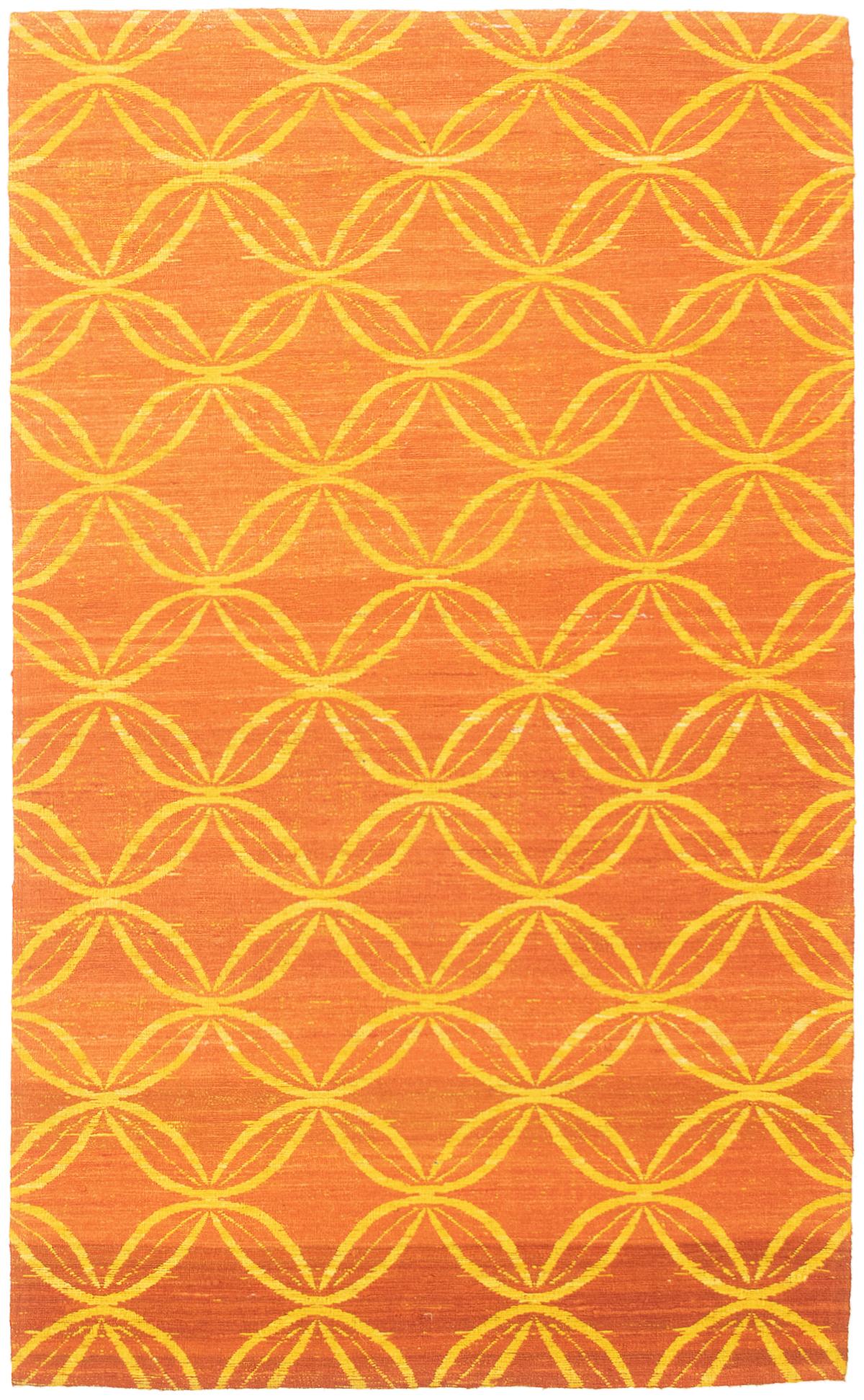 "Handmade Collage Burnt Orange Chenille Rug 4'11"" x 8'0"" Size: 4'11"" x 8'0"""