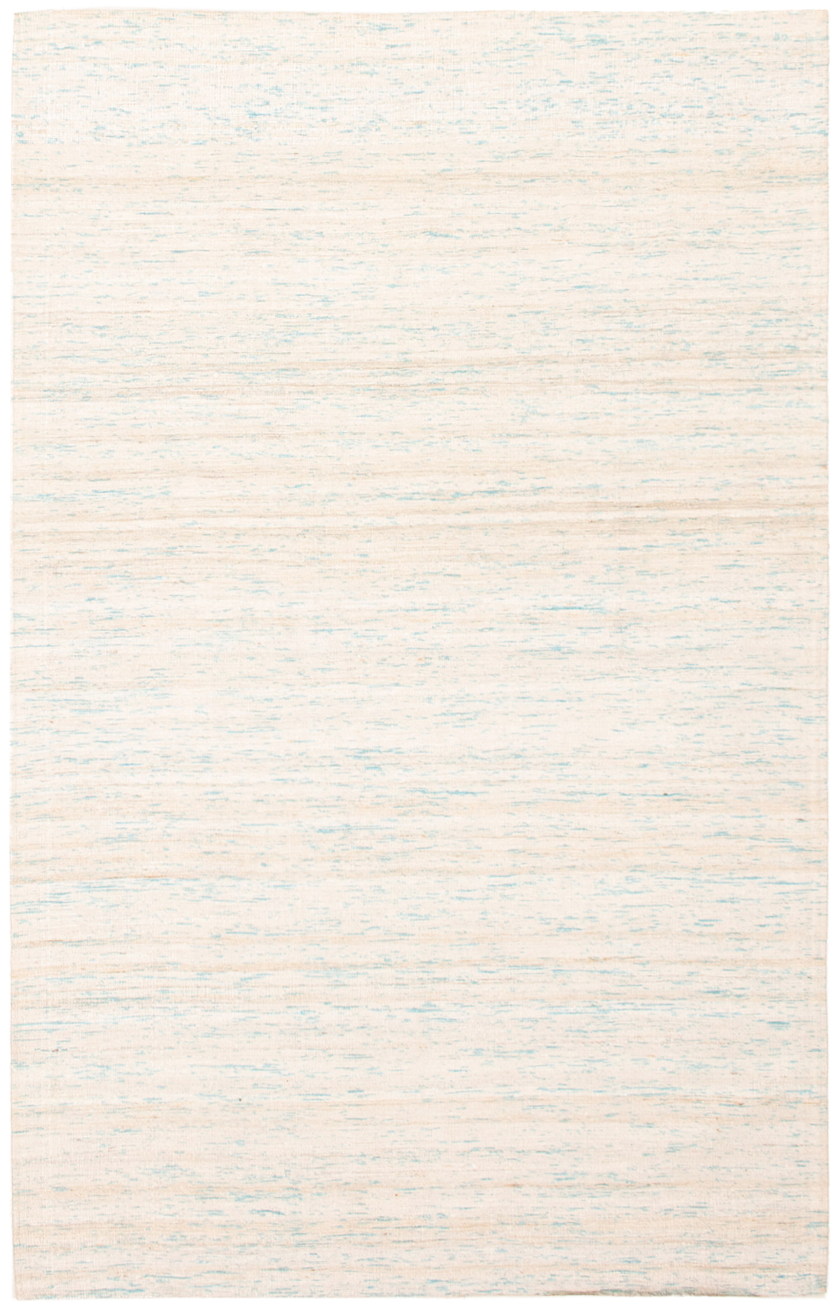 """Handmade Collage Ivory, Light Blue  Chenille Rug 5'1"""" x 8'1"""" Size: 5'1"""" x 8'1"""""""