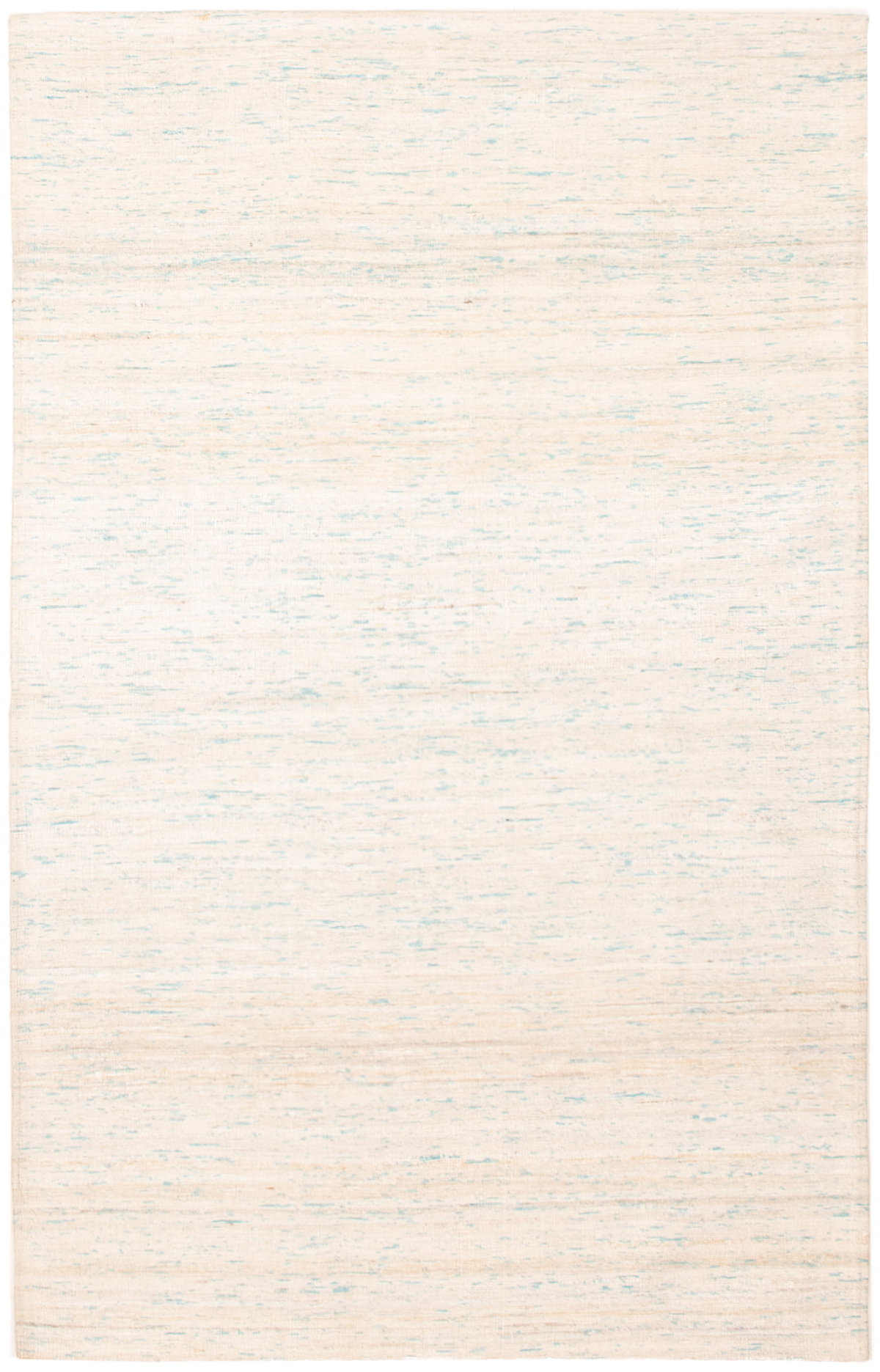 """Handmade Collage Ivory, Light Blue  Chenille Rug 5'1"""" x 8'0""""  Size: 5'1"""" x 8'0"""""""