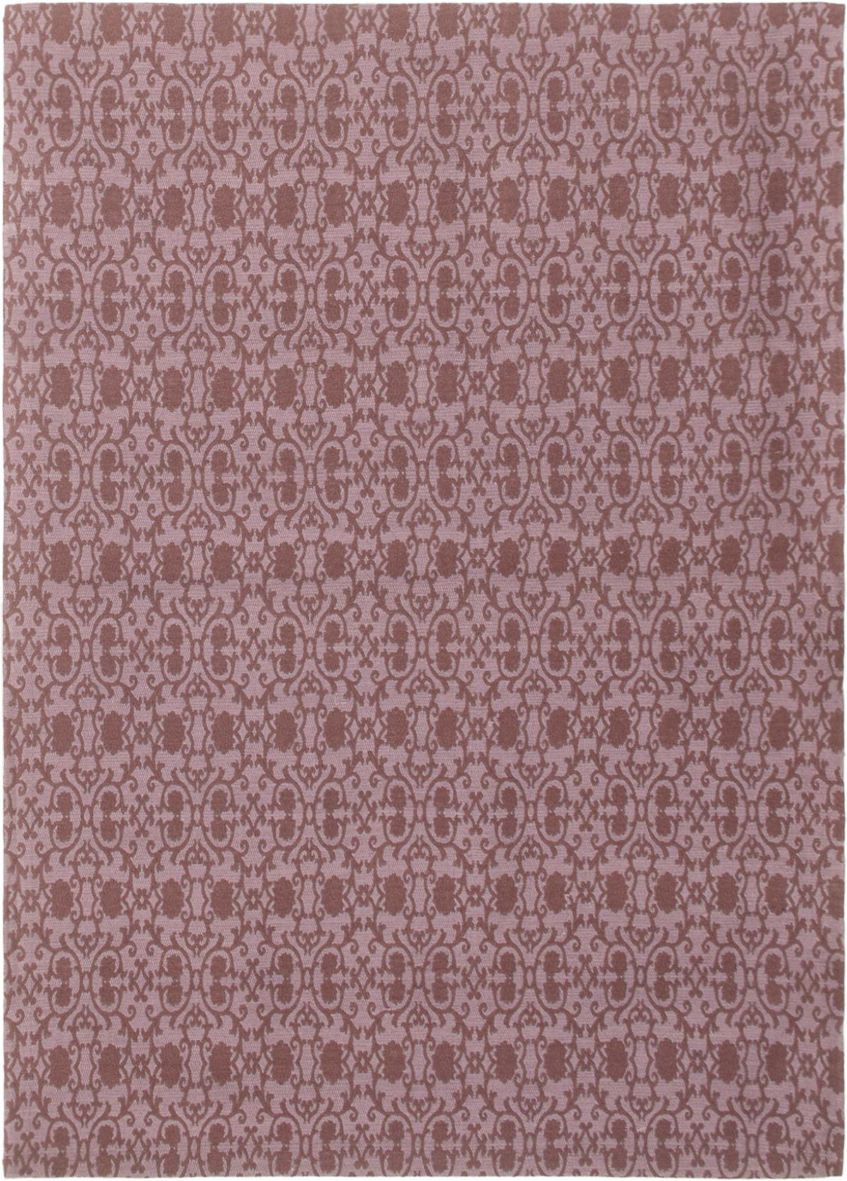 "Handmade Collage Burgundy, Purple Chenille Rug 4'9"" x 6'8"" Size: 4'9"" x 6'8"""