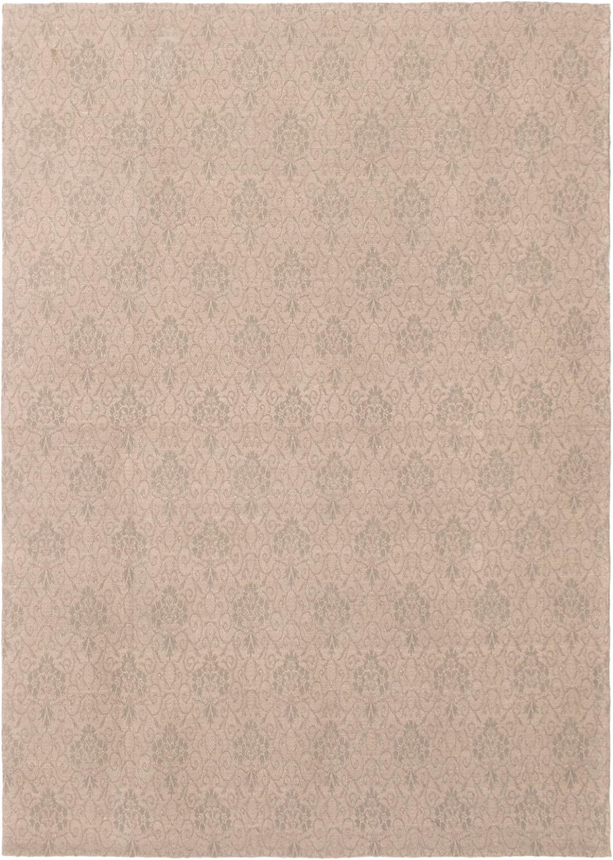 "Handmade Collage Dark Grey, Light Grey Chenille Rug 4'9"" x 6'9""  Size: 4'9"" x 6'9"""