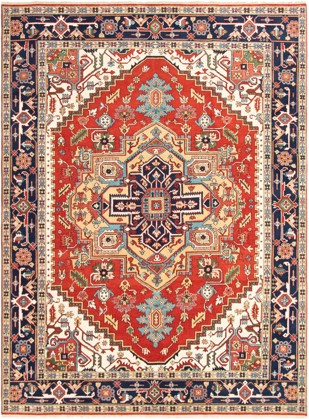"Hand-knotted Serapi Heritage Red Wool Rug 8'10"" x 11'11""  Size: 8'10"" x 11'11"""