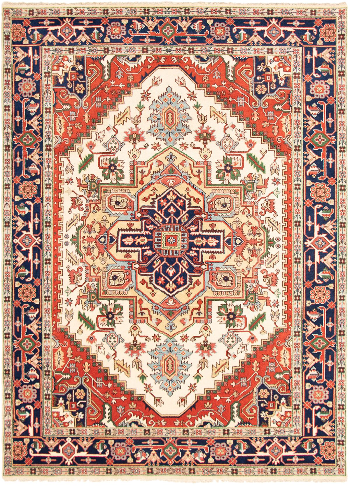 """Hand-knotted Serapi Heritage Cream Wool Rug 9'10"""" x 13'10"""" Product Image"""