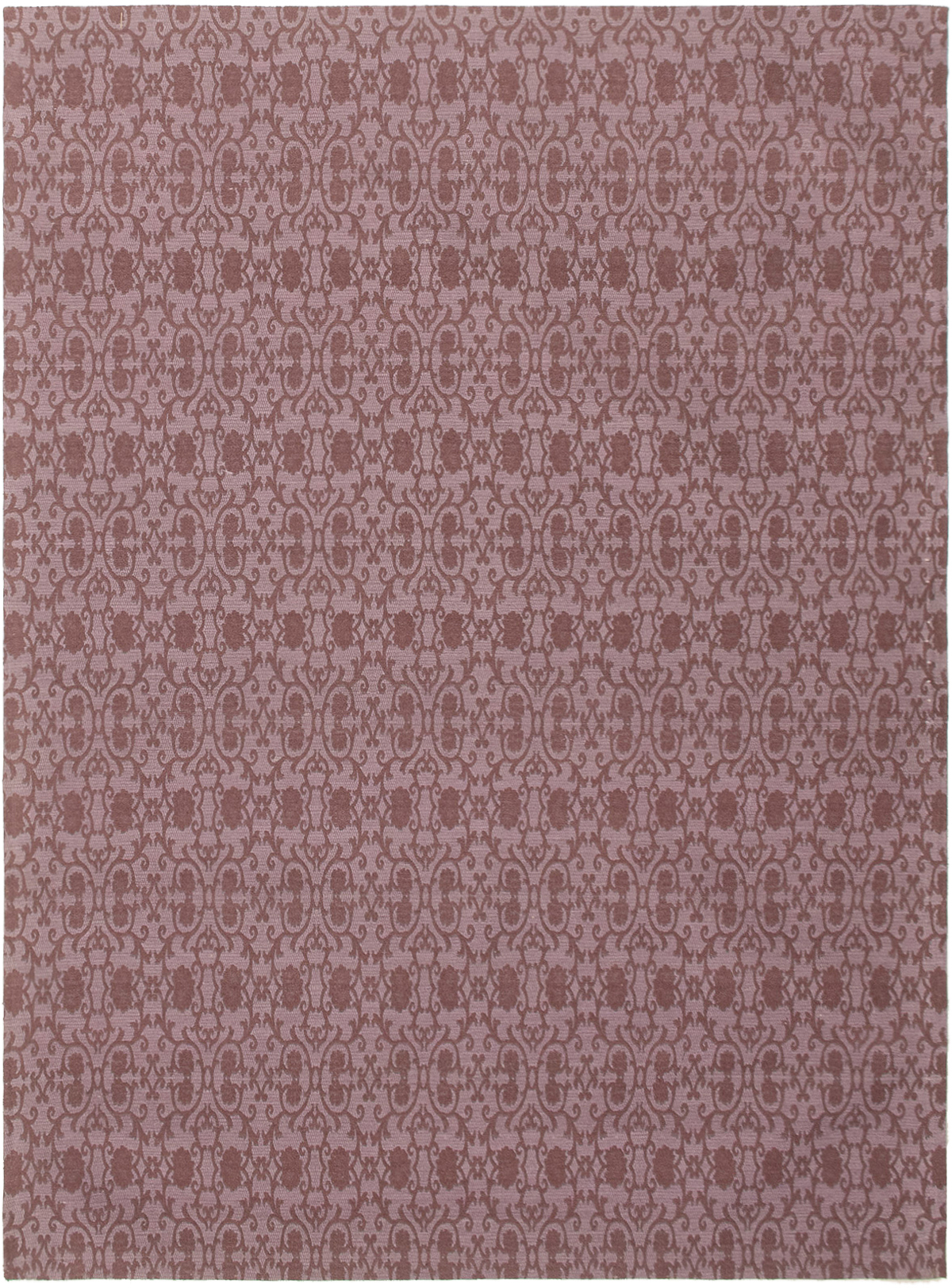 "Handmade Collage Burgundy, Purple Chenille Rug 5'7"" x 7'6"" Size: 5'7"" x 7'6"""