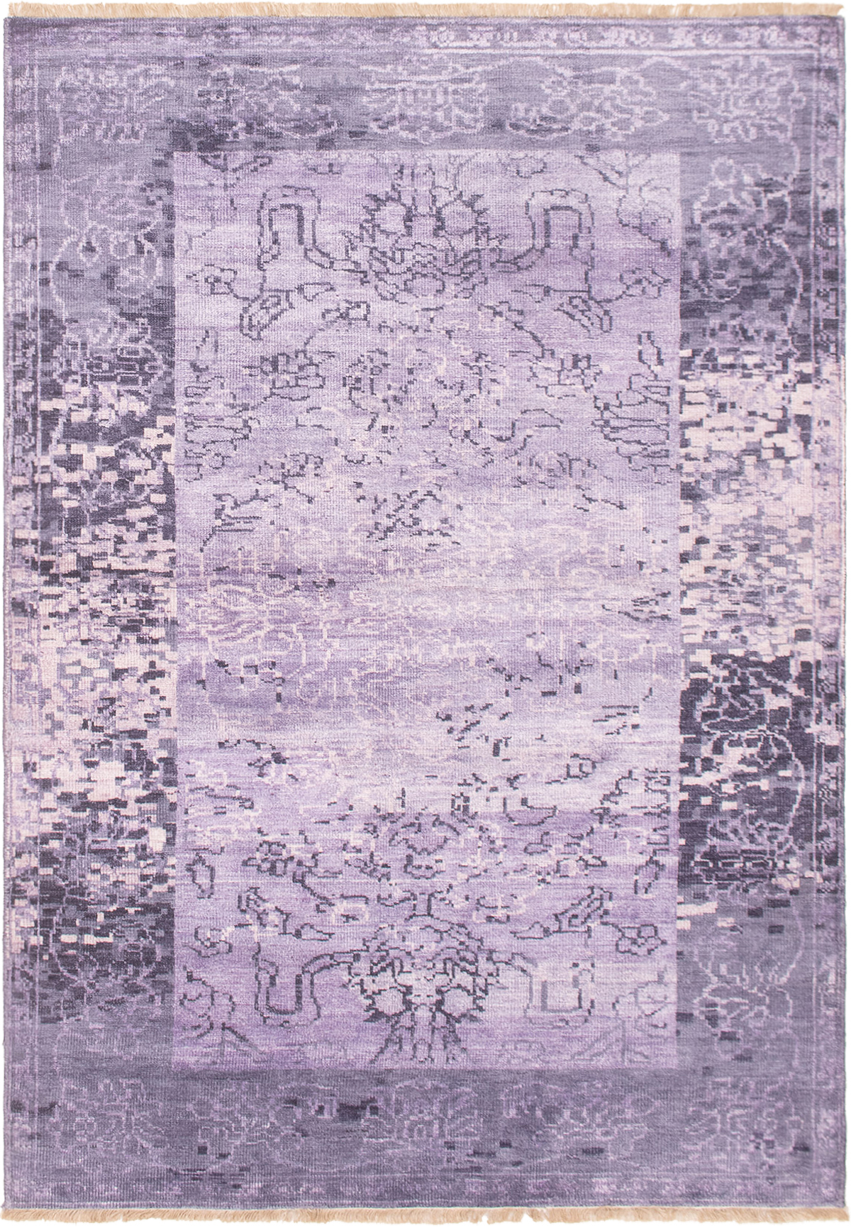 "Hand-knotted Jules Ushak Purple  Rug 5'4"" x 7'7"" Size: 5'4"" x 7'7"""