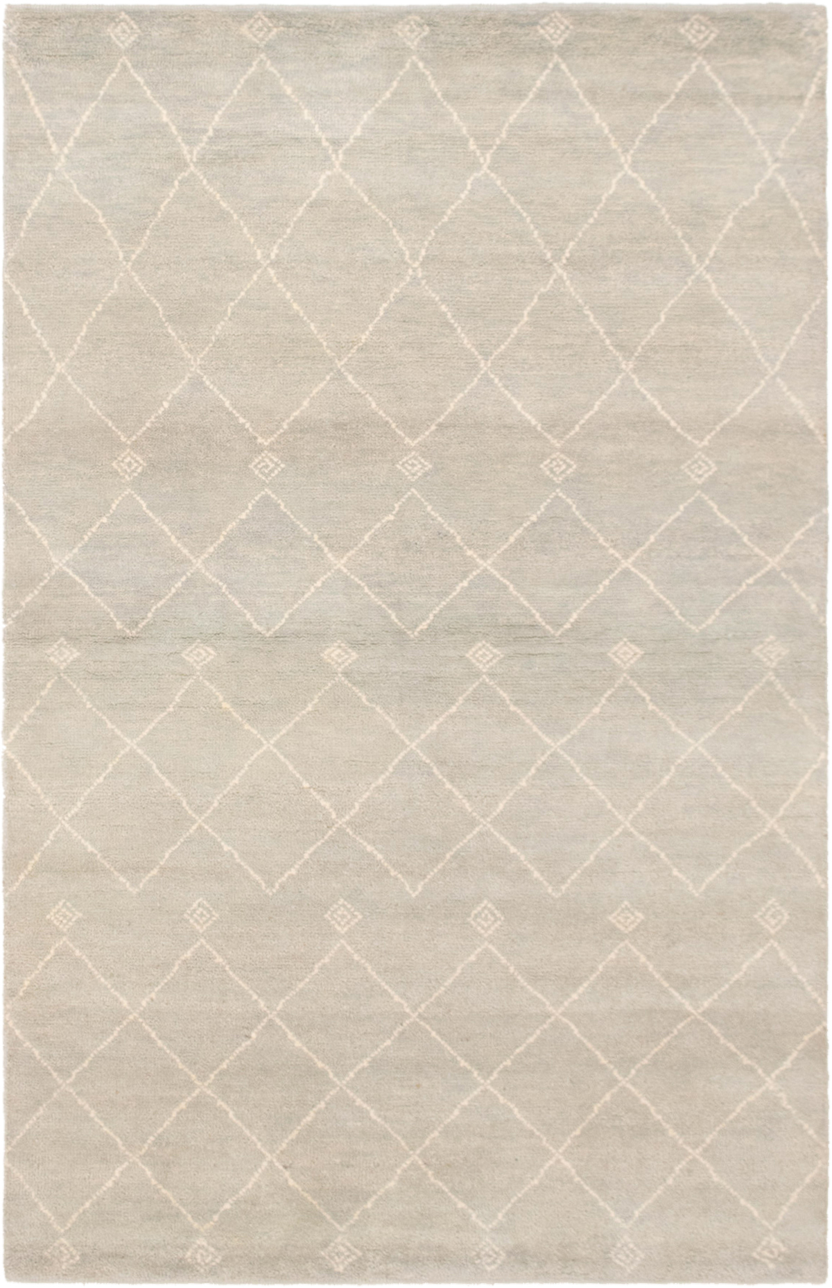 """Hand-knotted Tangier Light Blue  Wool Rug 5'7"""" x 8'0"""" Size: 5'7"""" x 8'0"""""""