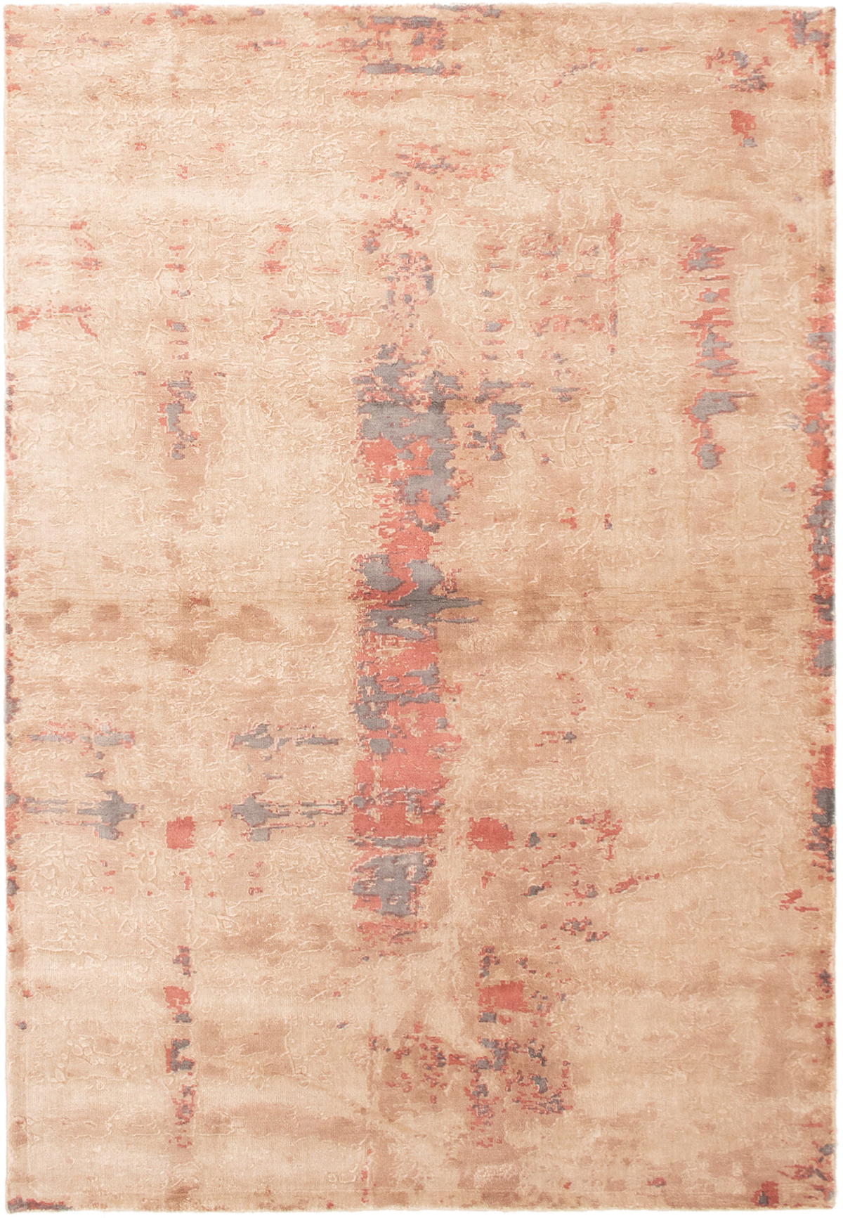 "Hand-knotted Galleria Cream Viscose Rug 5'4"" x 7'8"" Size: 5'4"" x 7'8"""