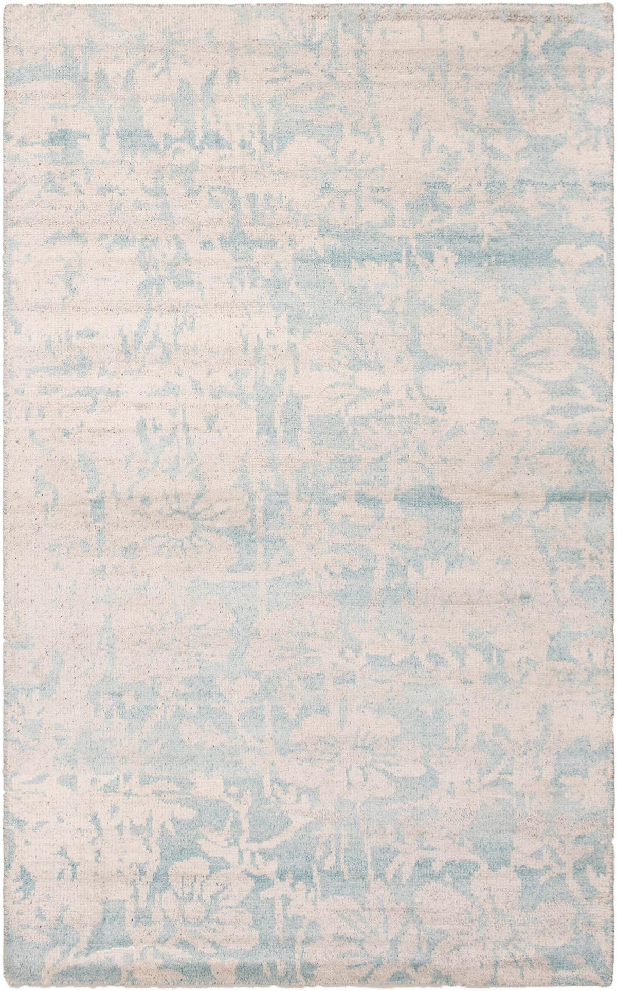 "Hand-knotted Jules Ushak Light Blue   Rug 4'11"" x 7'10"" Size: 4'11"" x 7'10"""