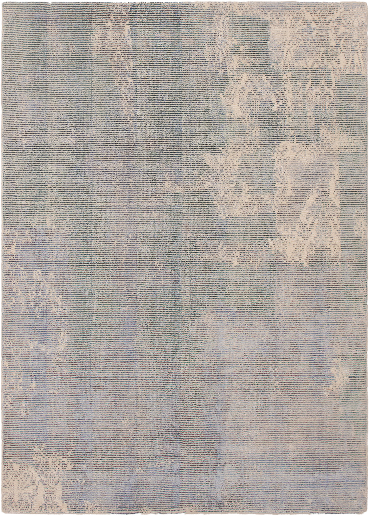 """Hand-knotted Galleria Light Blue  Wool Rug 5'4"""" x 7'6"""" Size: 5'4"""" x 7'6"""""""
