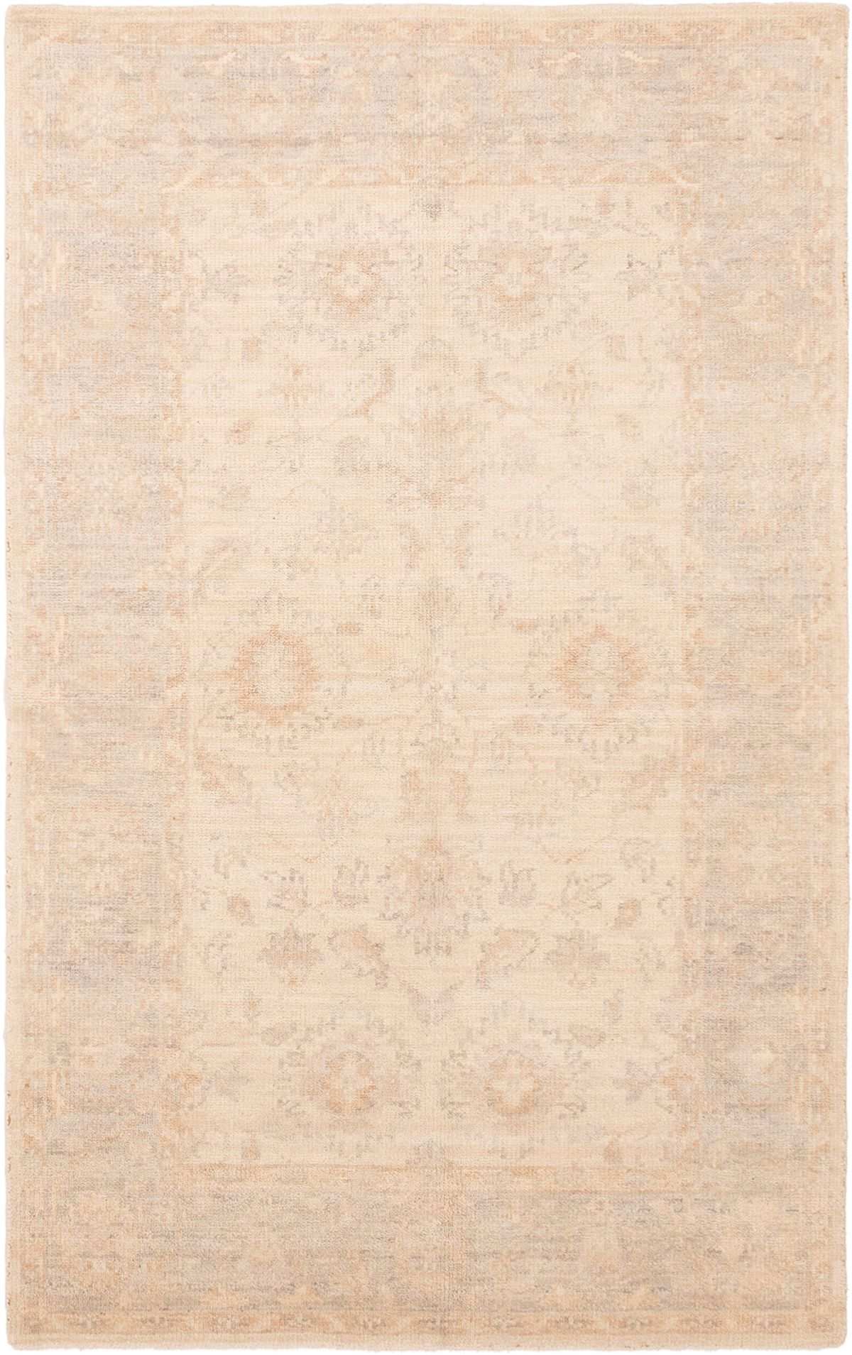 "Hand-knotted Eternity Cream Wool Rug 5'0"" x 8'0""  Size: 5'0"" x 8'0"""