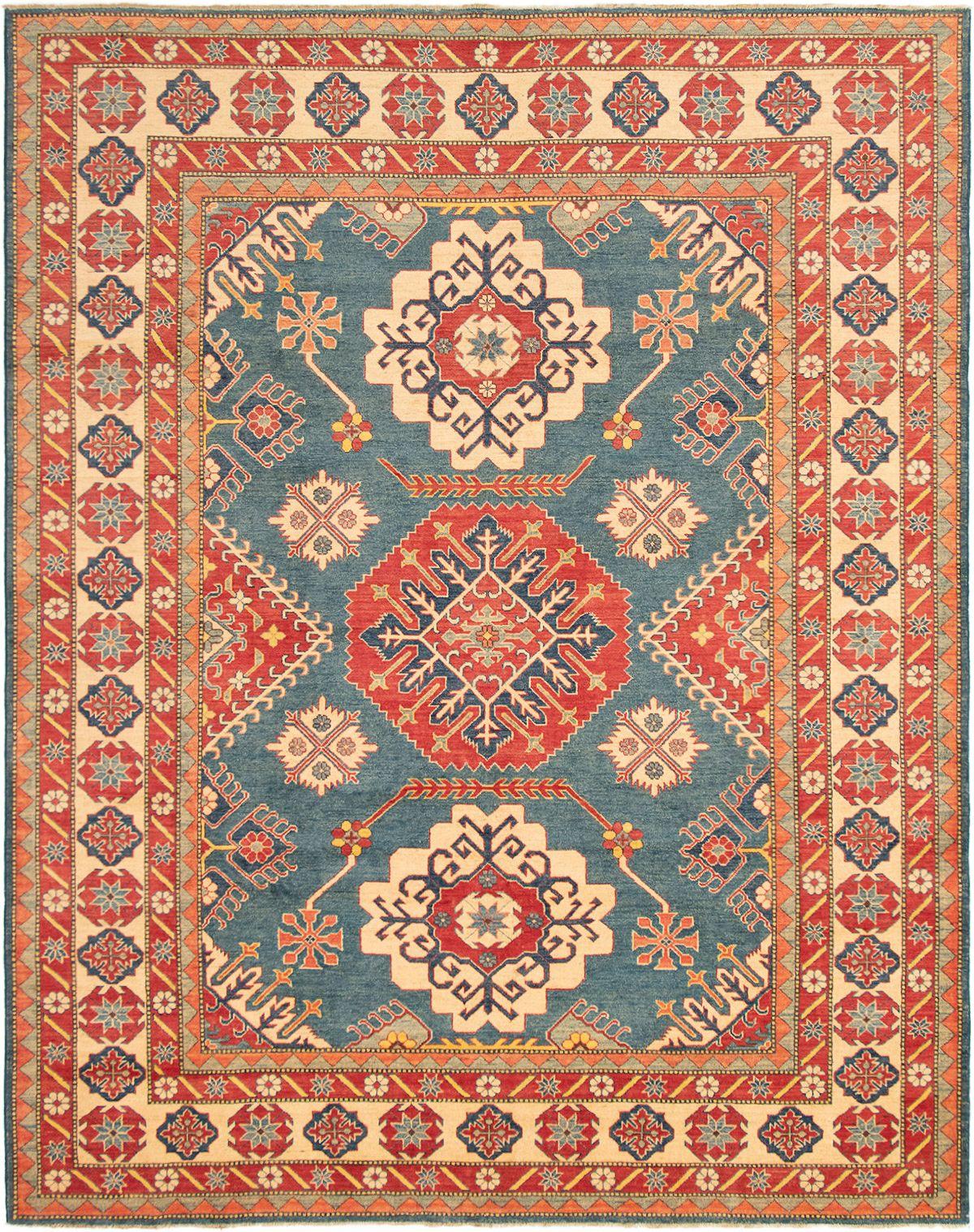 "Hand-knotted Finest Gazni Dark Blue Wool Rug 9'10"" x 12'5"" Size: 9'10"" x 12'5"""