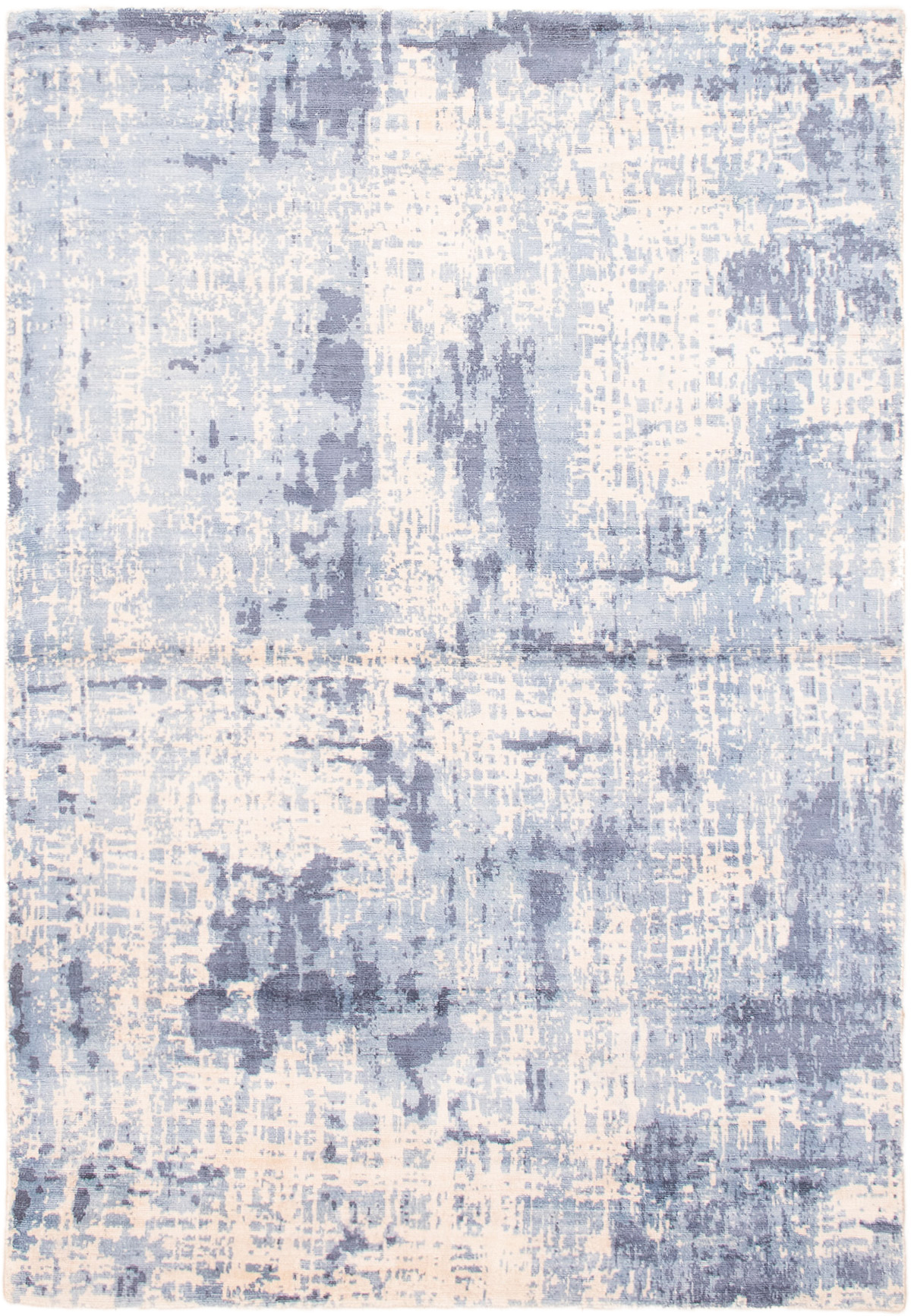 """Hand-knotted Galleria Light Blue  Viscose Rug 4'11"""" x 7'3"""" Size: 4'11"""" x 7'3"""""""