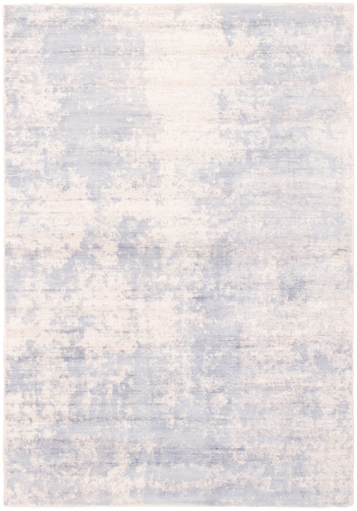 """Hand-knotted Galleria Light Blue  Viscose Rug 4'8"""" x 6'10"""" Size: 4'8"""" x 6'10"""""""