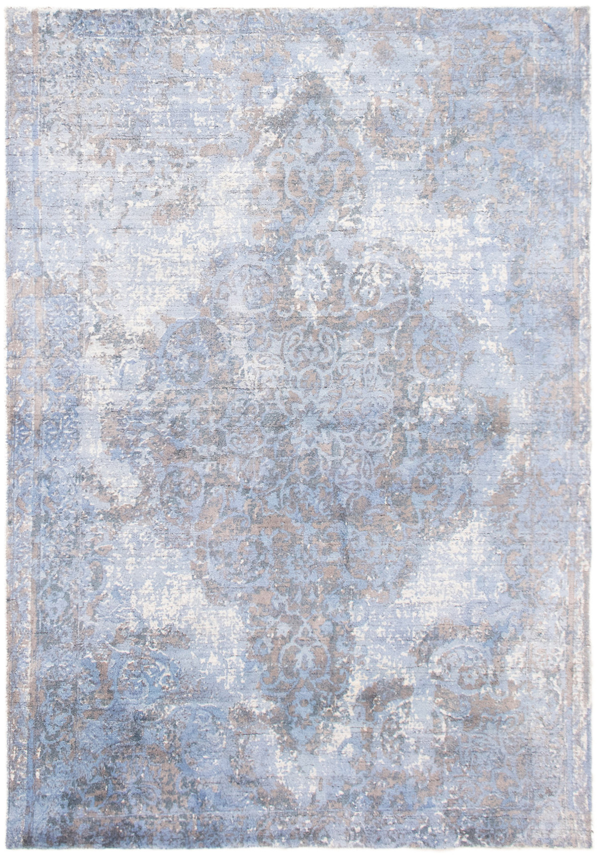 """Hand-knotted Galleria Light Blue  Viscose Rug 5'2"""" x 7'6"""" Size: 5'2"""" x 7'6"""""""