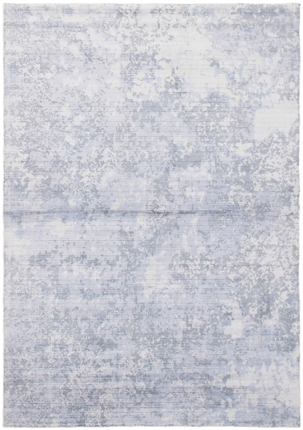 """Hand-knotted Galleria Light Blue  Viscose Rug 5'2"""" x 7'5"""" Size: 5'2"""" x 7'5"""""""