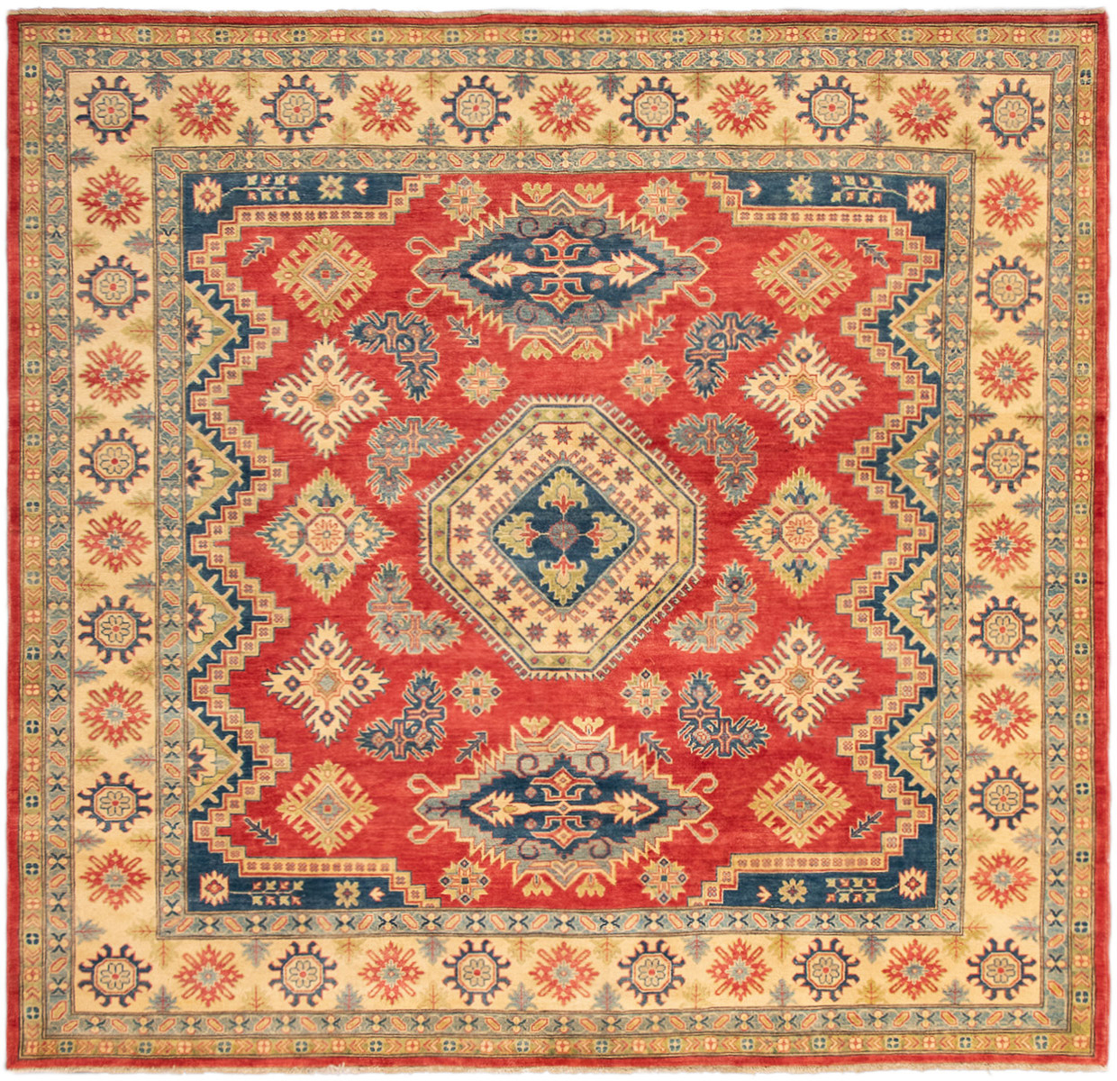 "Hand-knotted Finest Gazni Red Wool Rug 9'2"" x 8'10""  Product Image"