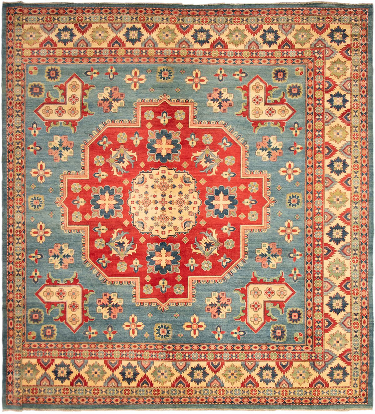"""Hand-knotted Finest Gazni Light Blue  Wool Rug 13'0"""" x 13'0"""" Size: 13'0"""" x 13'0"""""""