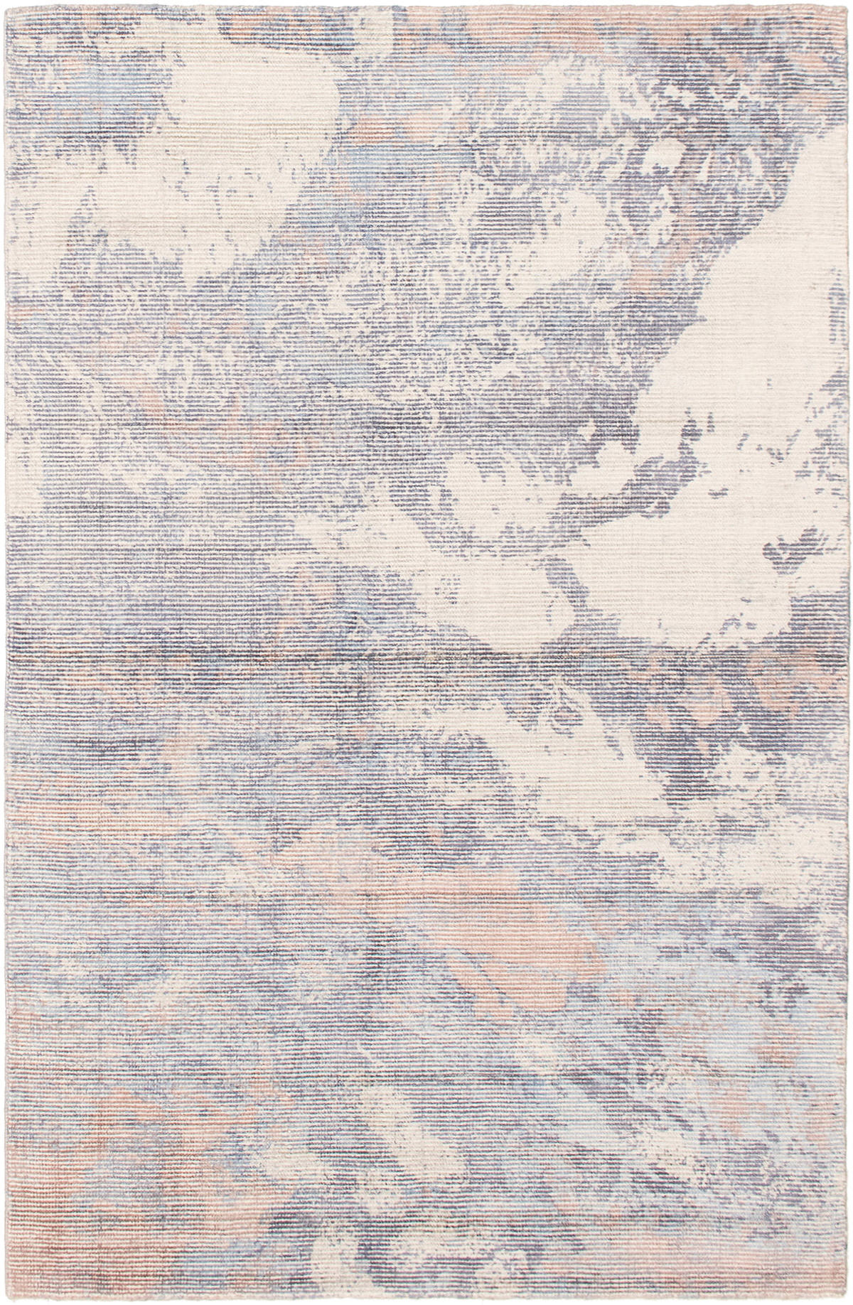 """Hand-knotted Galleria Light Blue  Viscose Rug 4'11"""" x 7'7"""" Size: 4'11"""" x 7'7"""""""