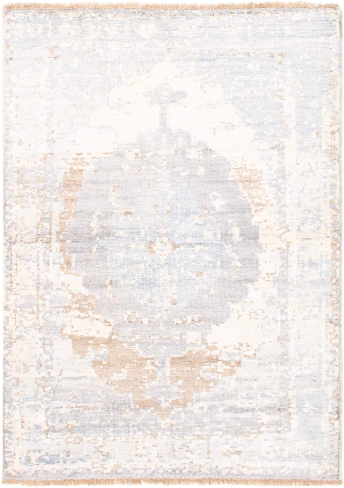 "Hand-knotted Jules Ushak Light Blue   Rug 4'8"" x 6'6"" Size: 4'8"" x 6'6"""