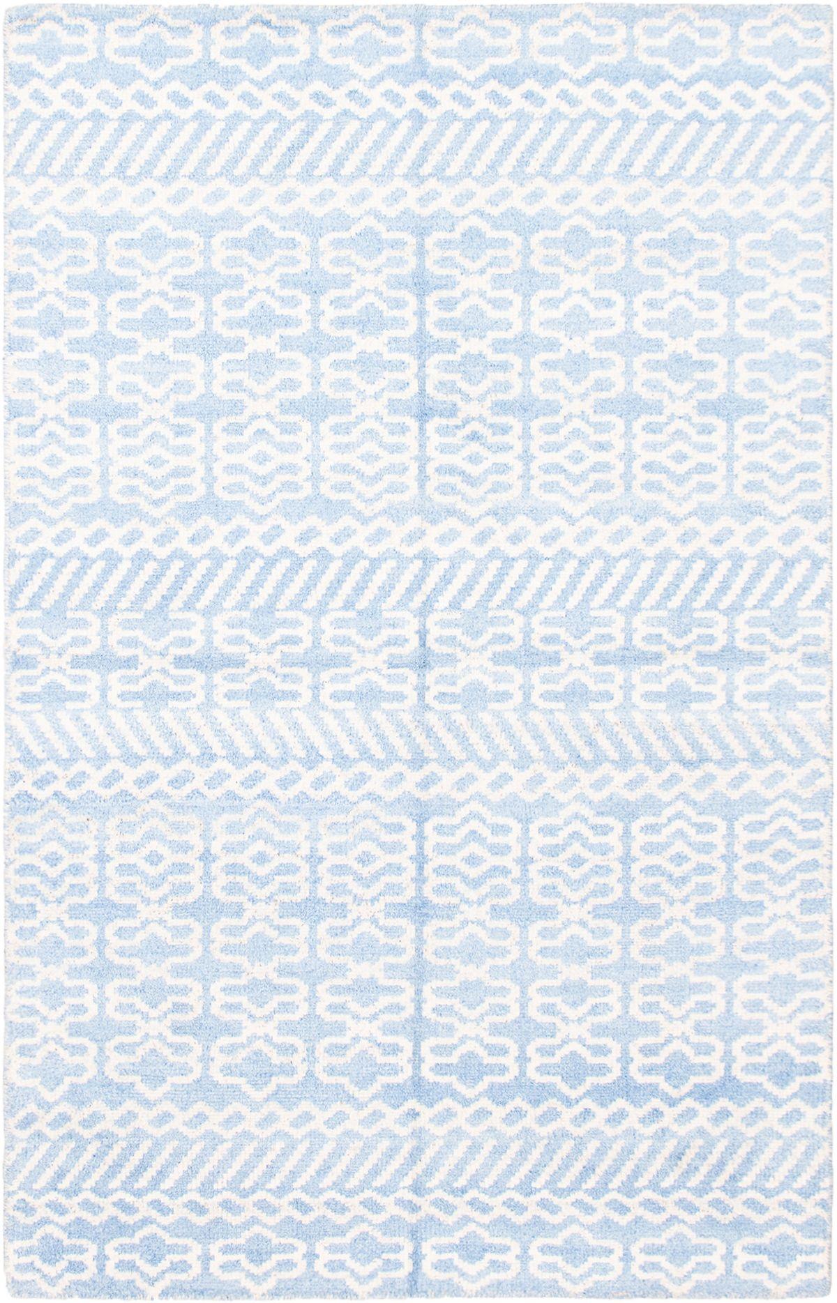 "Hand-knotted Jules Ushak Light Blue   Rug 5'0"" x 7'10"" Size: 5'0"" x 7'10"""