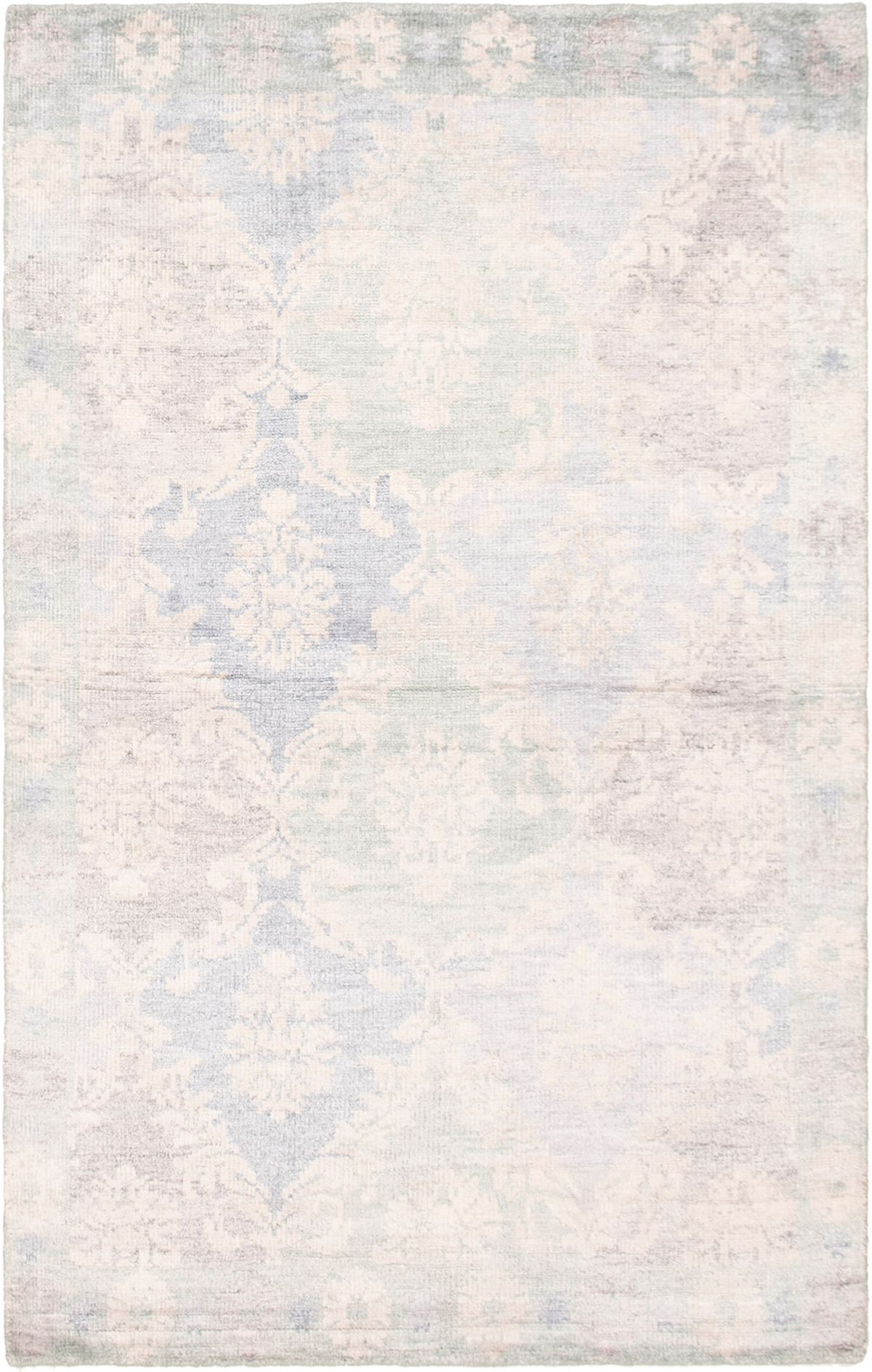 "Hand-knotted Jules Ushak Light Blue   Rug 5'0"" x 7'11"" Size: 5'0"" x 7'11"""