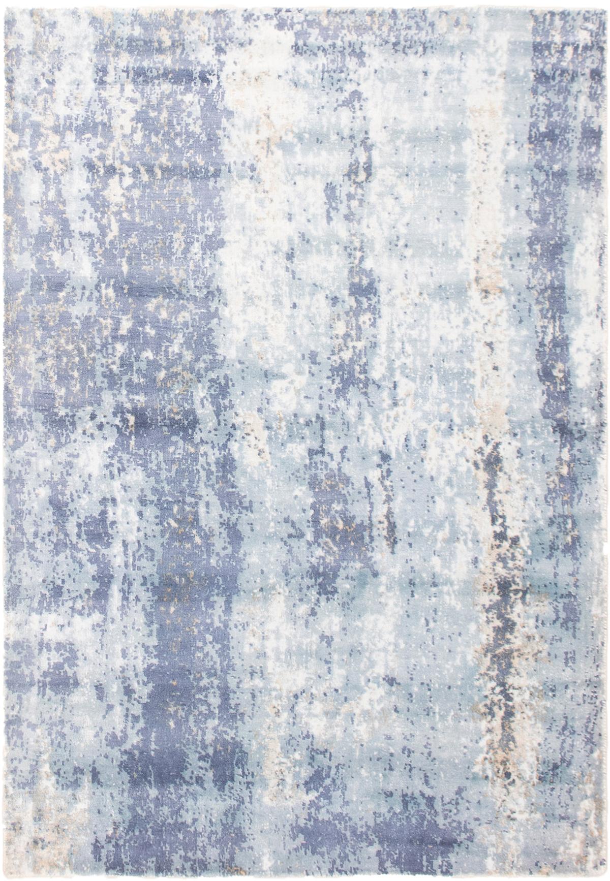 "Hand loomed Galleria Light Blue  Viscose Rug 5'3"" x 7'7"" Size: 5'3"" x 7'7"""
