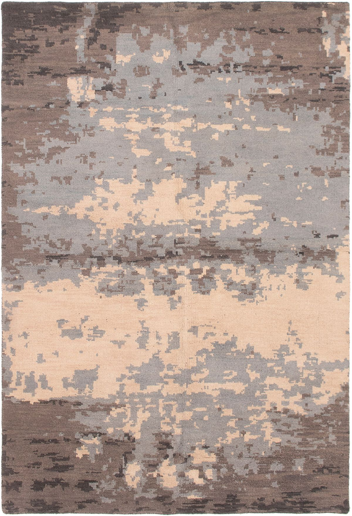 """Hand-knotted Eternity Light Blue  Wool Rug 6'0"""" x 9'0"""" Size: 6'0"""" x 9'0"""""""