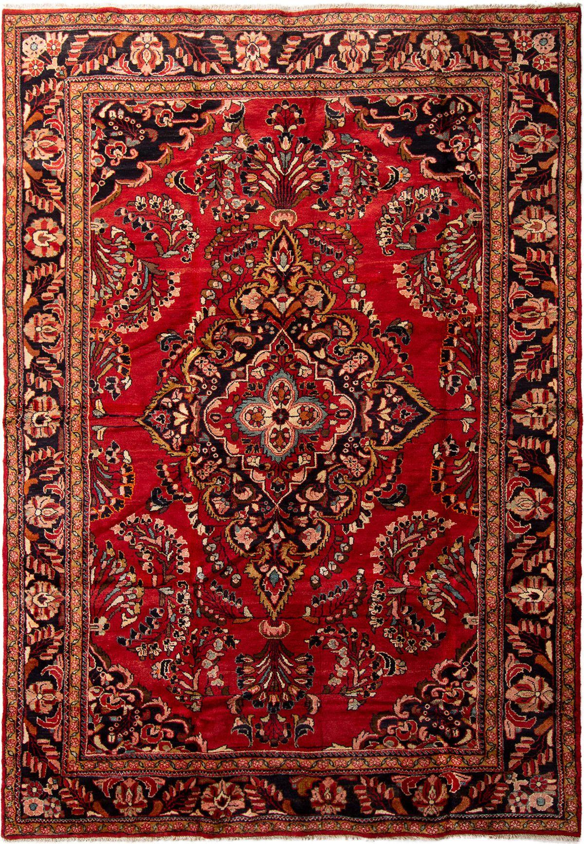 "Hand-knotted Hamadan  Wool Rug 7'4"" x 10'10"" Size: 7'4"" x 10'10"""