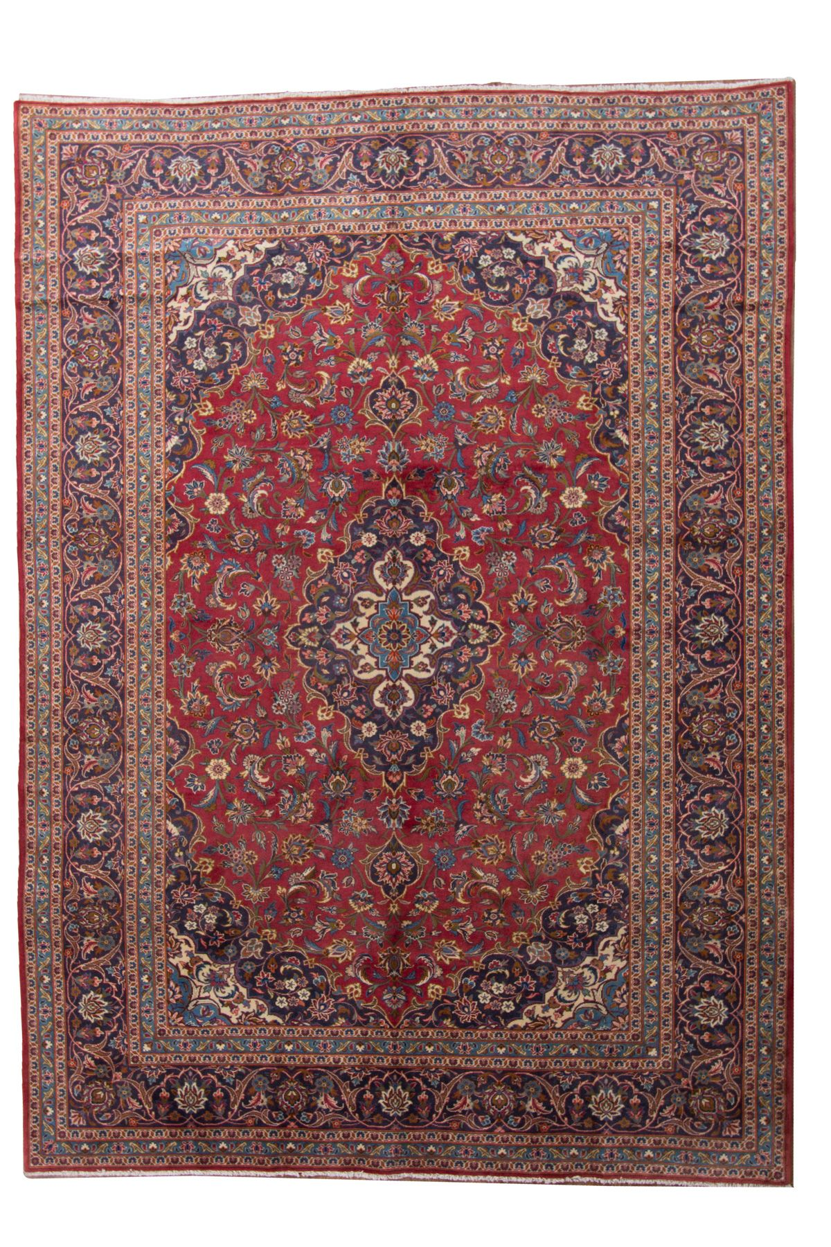 """Hand-knotted Kashan  Wool Rug 8'3"""" x 11'7"""" Size: 8'3"""" x 11'7"""""""