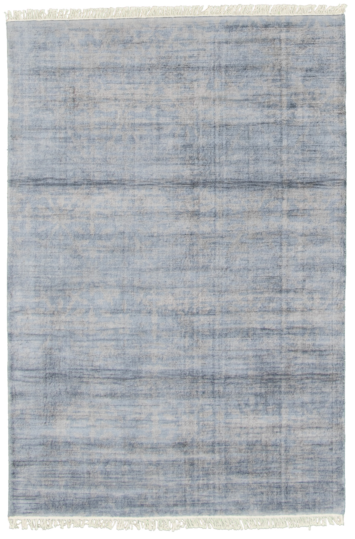 "Hand loomed Galleria Dark Blue Viscose Rug 5'2"" x 7'8"" Size: 5'2"" x 7'8"""