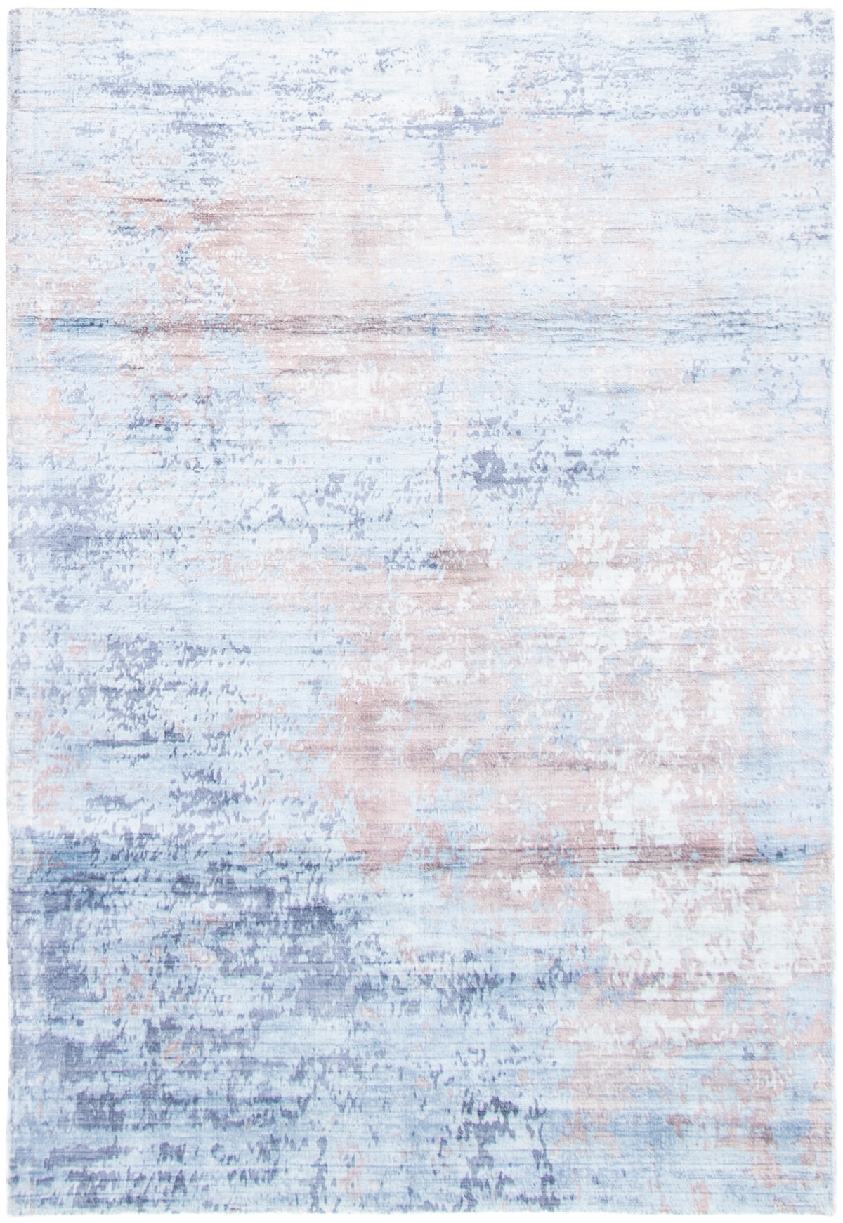 """Hand loomed Galleria Blue Viscose Rug 5'1"""" x 7'6"""" Size: 5'1"""" x 7'6"""""""