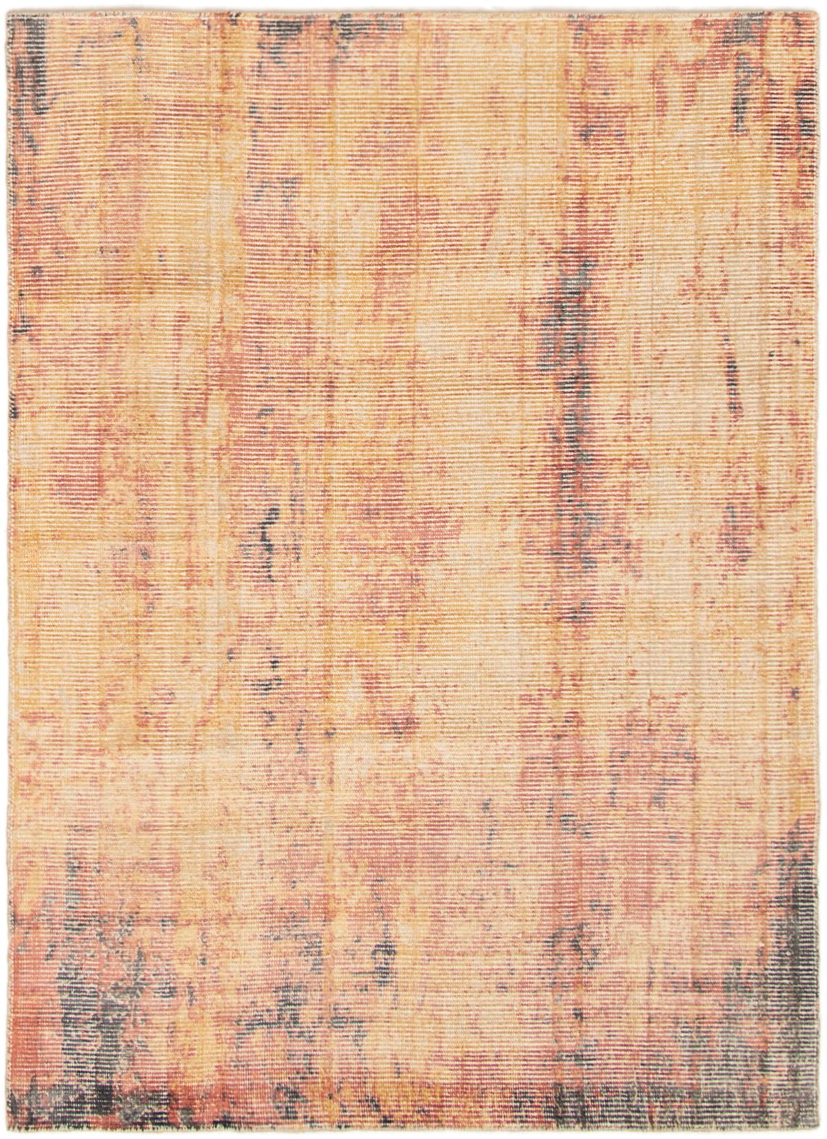 "Hand loomed Galleria Light Orange Viscose Rug 5'2"" x 7'2"" Size: 5'2"" x 7'2"""