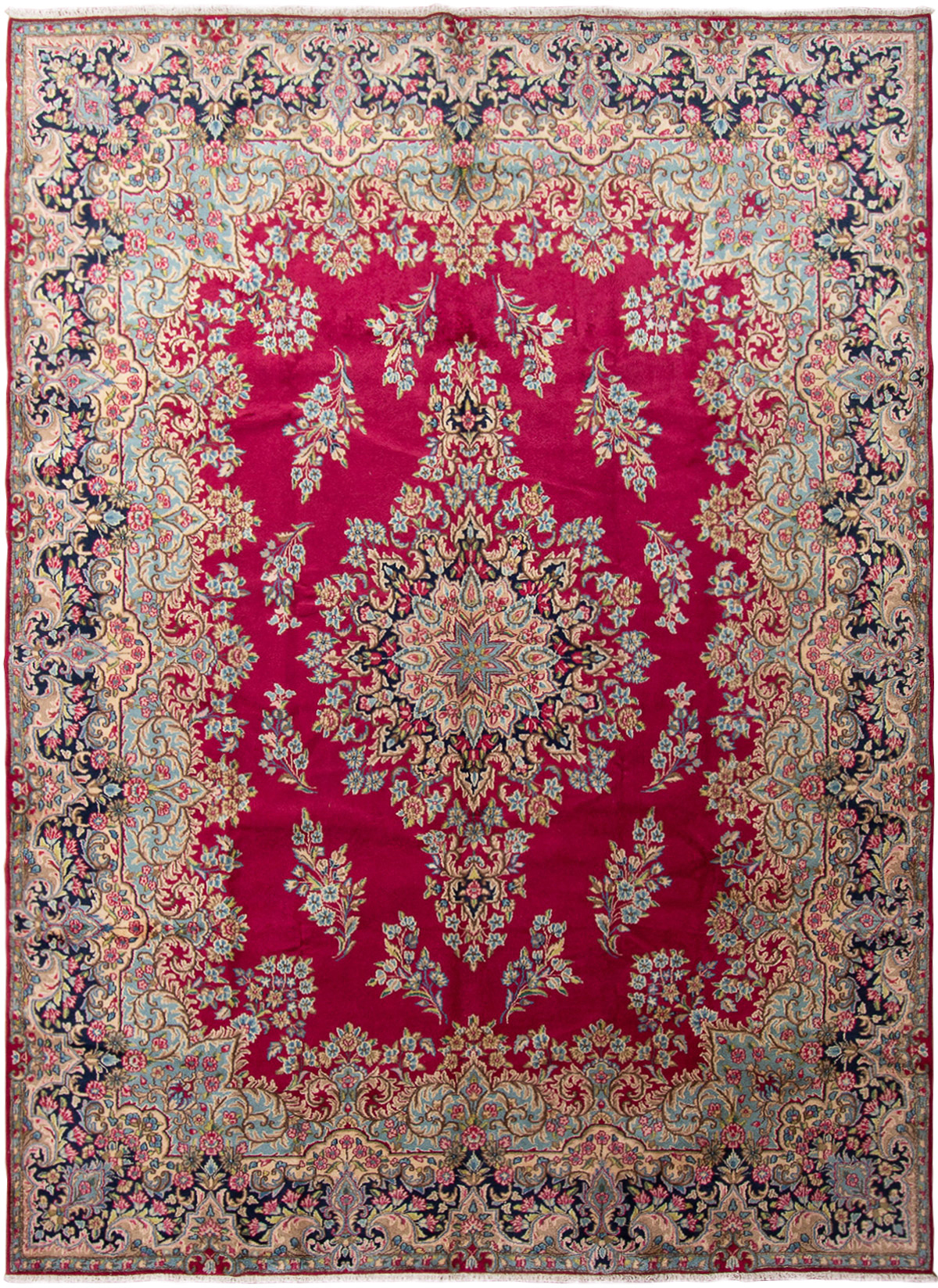 "Hand-knotted Kerman  Wool Rug 9'9"" x 13'3"" Size: 9'9"" x 13'3"""