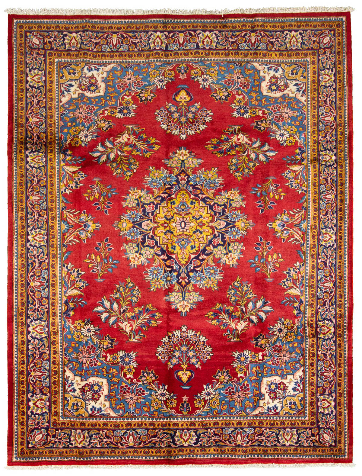 """Hand-knotted Arak  Wool Rug 6'11"""" x 9'6"""" Size: 6'11"""" x 9'6"""""""