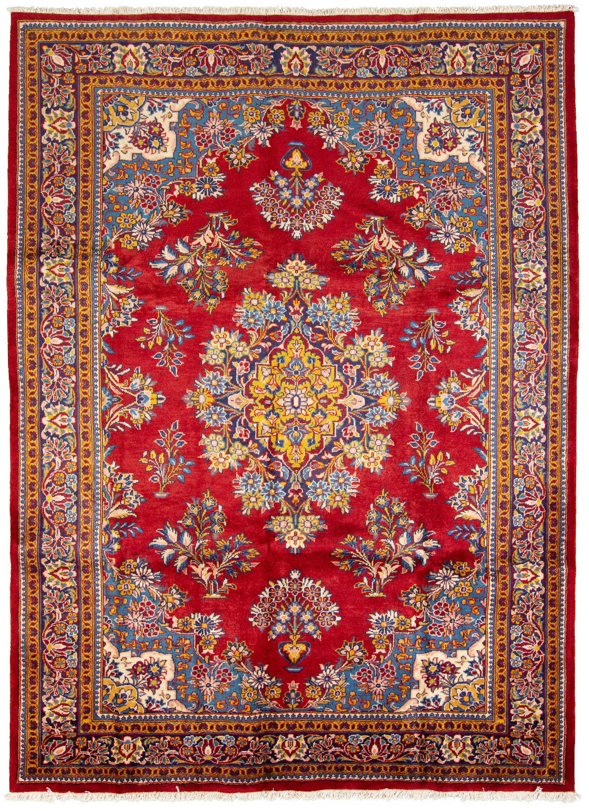 """Hand-knotted Arak  Wool Rug 7'4"""" x 10'2"""" Size: 7'4"""" x 10'2"""""""