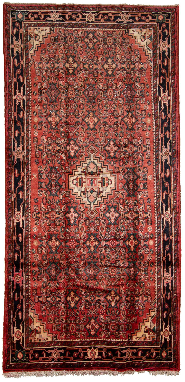 "Hand-knotted Hamadan  Wool Rug 5'1"" x 10'6"" Size: 5'1"" x 10'6"""