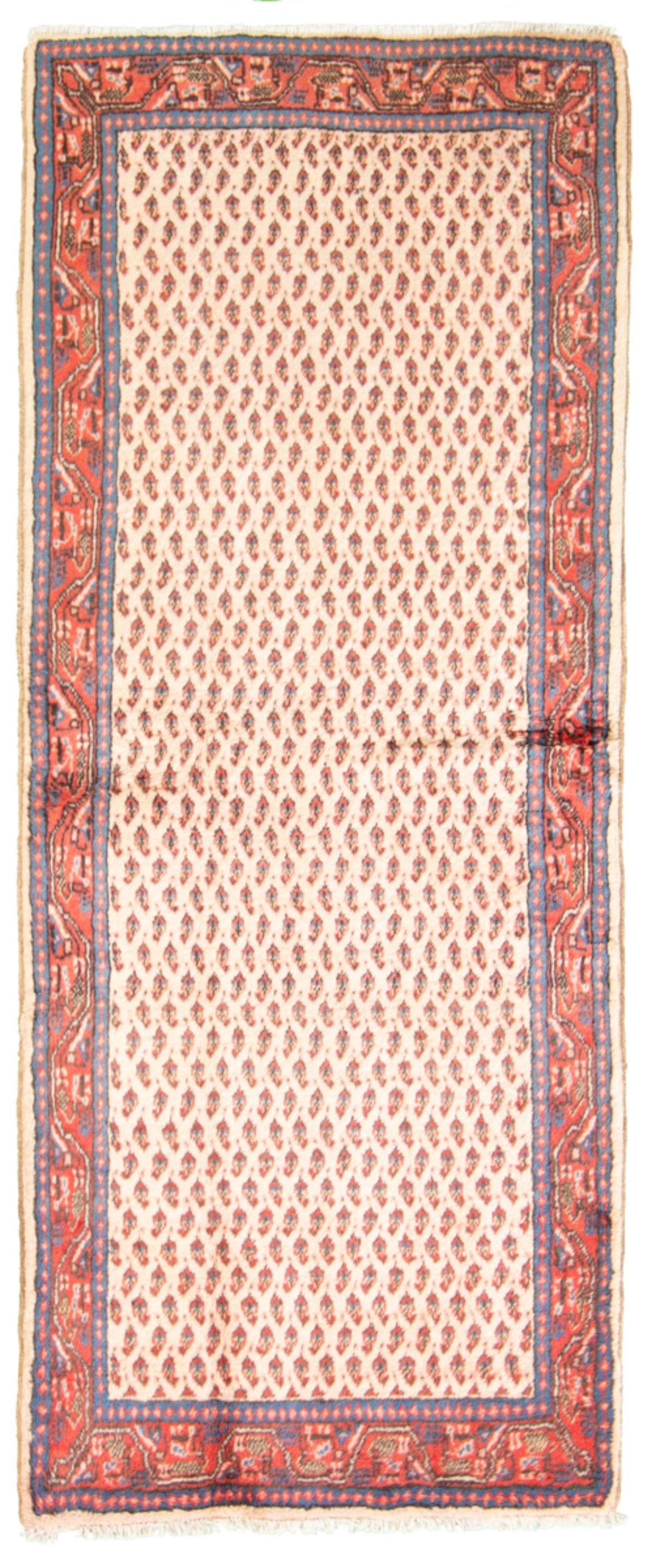 """Hand-knotted Arak  Wool Rug 2'8"""" x 6'5"""" Size: 2'7"""" x 6'5"""""""