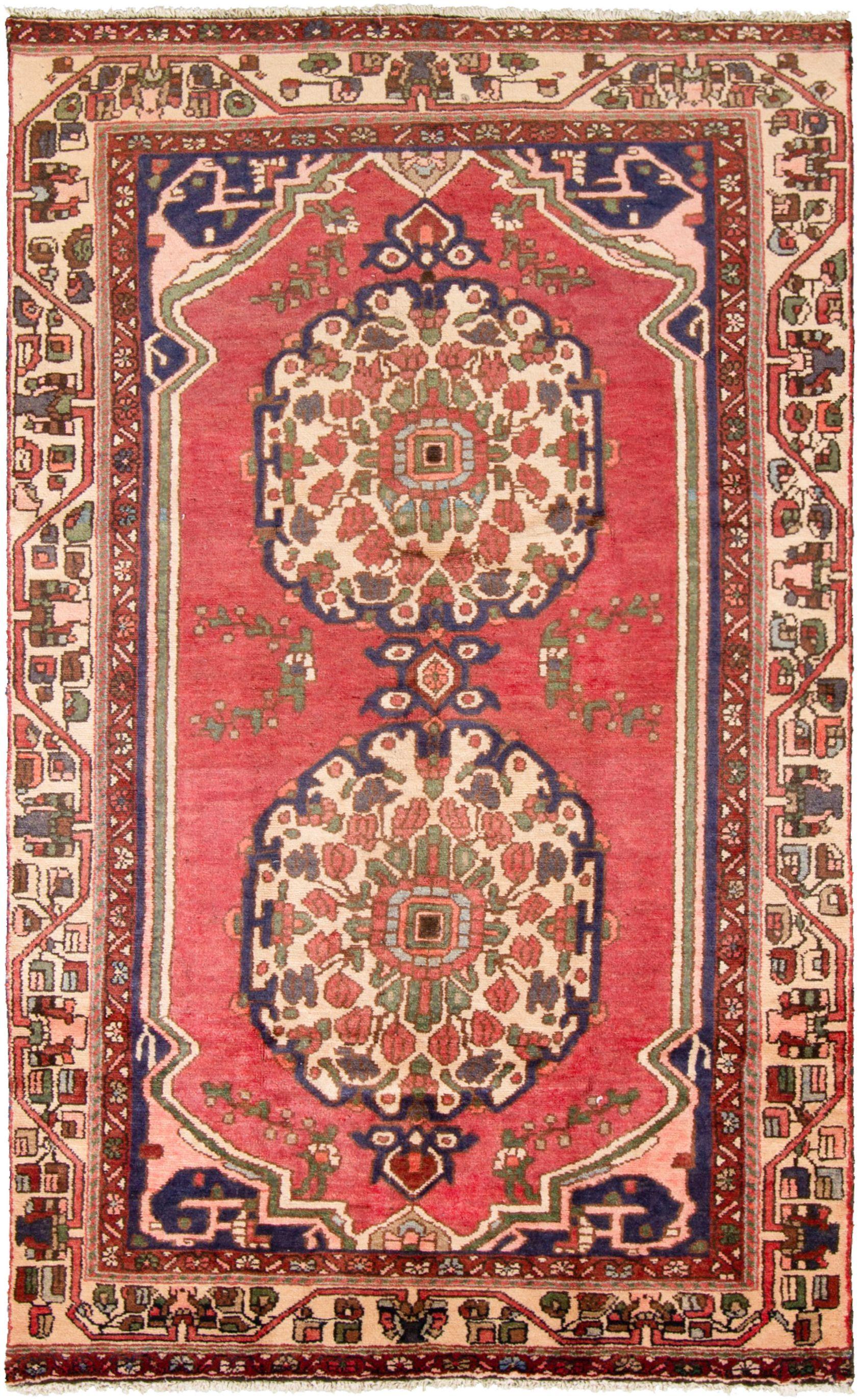 "Hand-knotted Hamadan  Wool Rug 4'9"" x 8'1""  Size: 4'9"" x 8'1"""