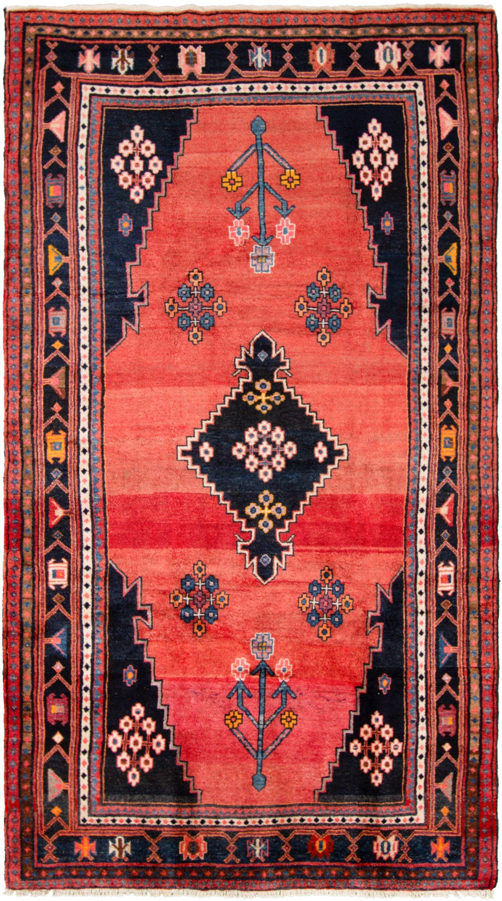"Hand-knotted Hamadan  Wool Rug 5'6"" x 9'9"" Size: 5'6"" x 9'9"""