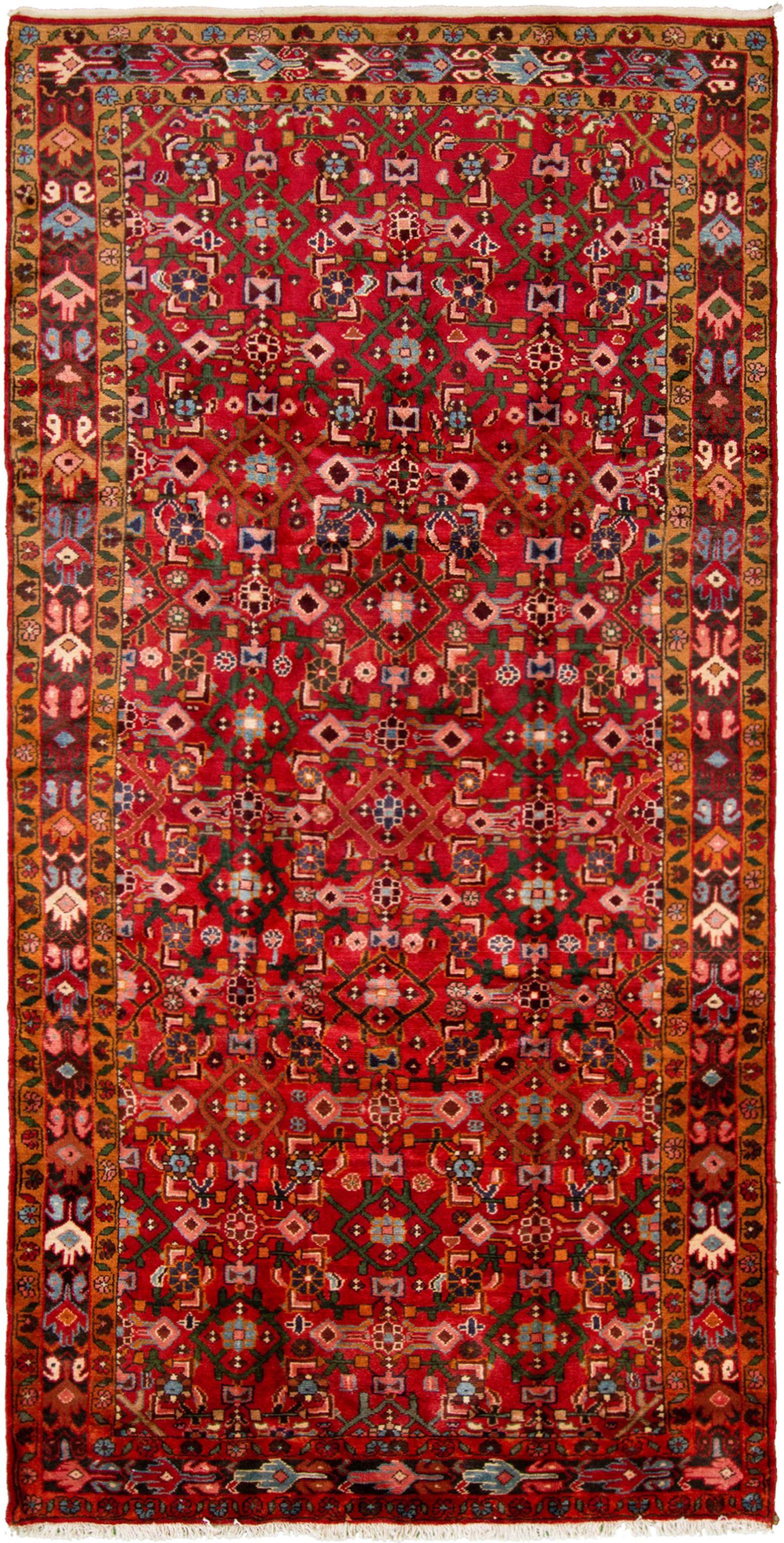 "Hand-knotted Hamadan  Wool Rug 5'0"" x 10'2"" Size: 5'0"" x 10'2"""