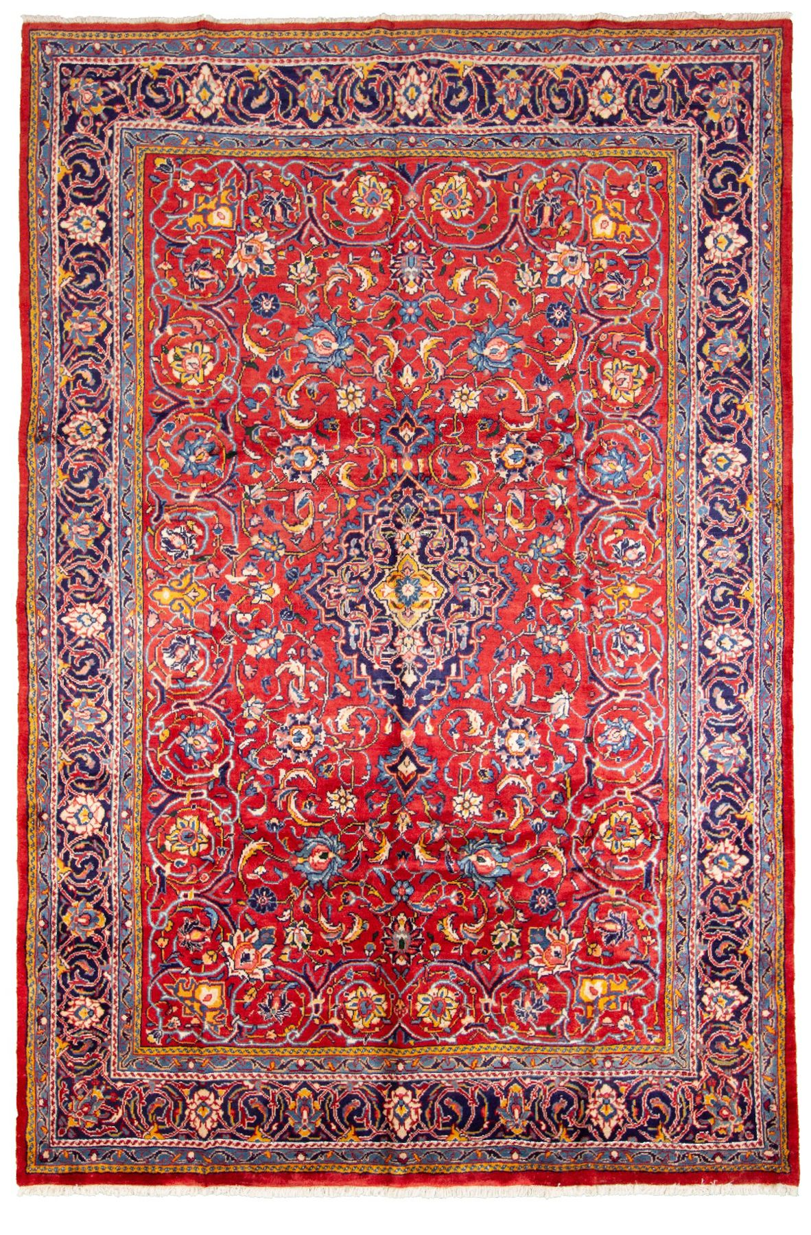 """Hand-knotted Arak  Wool Rug 7'3"""" x 11'0"""" Size: 7'3"""" x 11'0"""""""