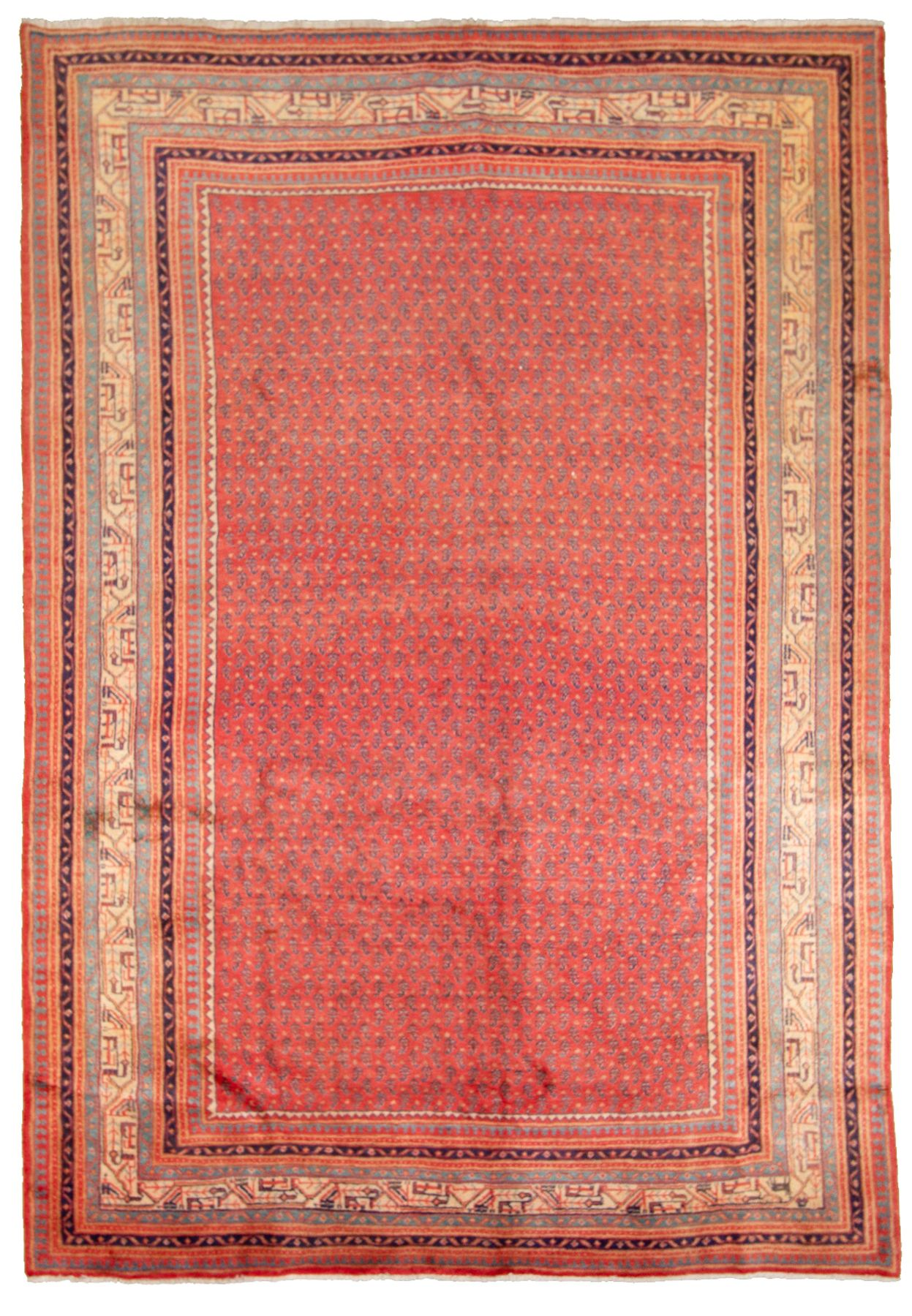 """Hand-knotted Arak  Wool Rug 7'1"""" x 10'3"""" Size: 7'1"""" x 10'3"""""""