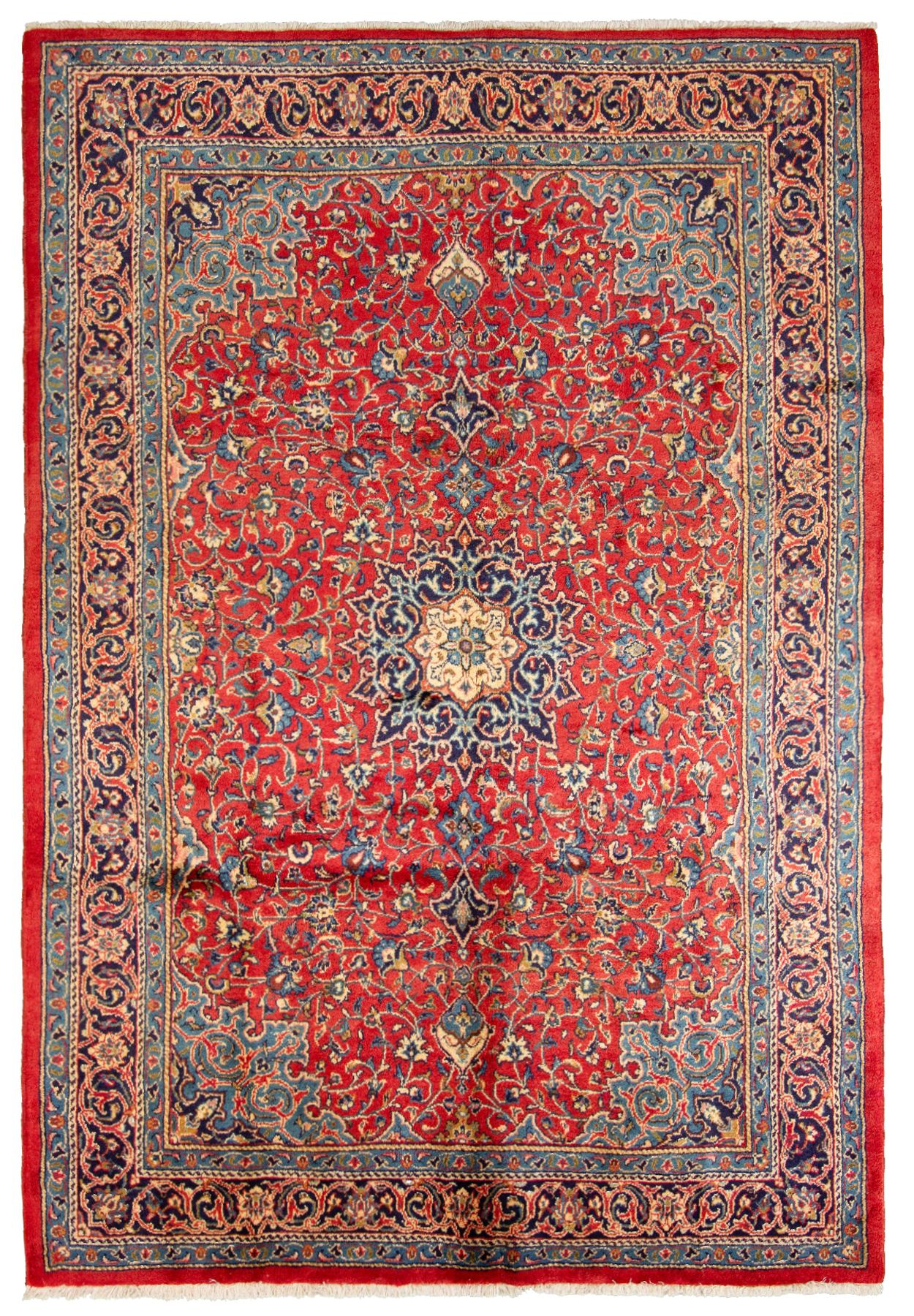 """Hand-knotted Mahal  Wool Rug 6'11"""" x 10'4""""  Size: 6'11"""" x 10'4"""""""