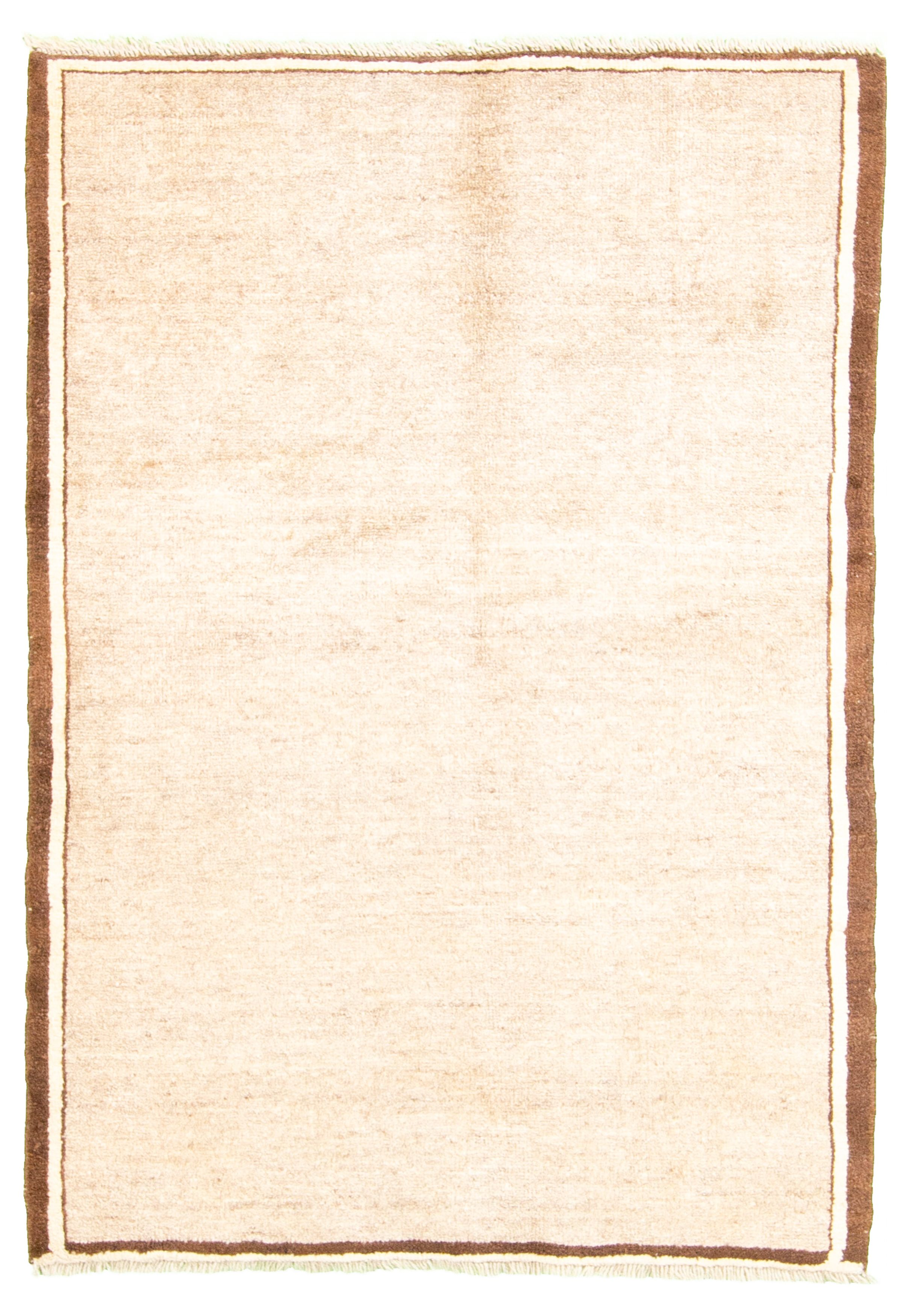 """Hand-knotted Persian Gabbeh  Wool Rug 3'3"""" x 4'8"""" Size: 3'3"""" x 4'8"""""""